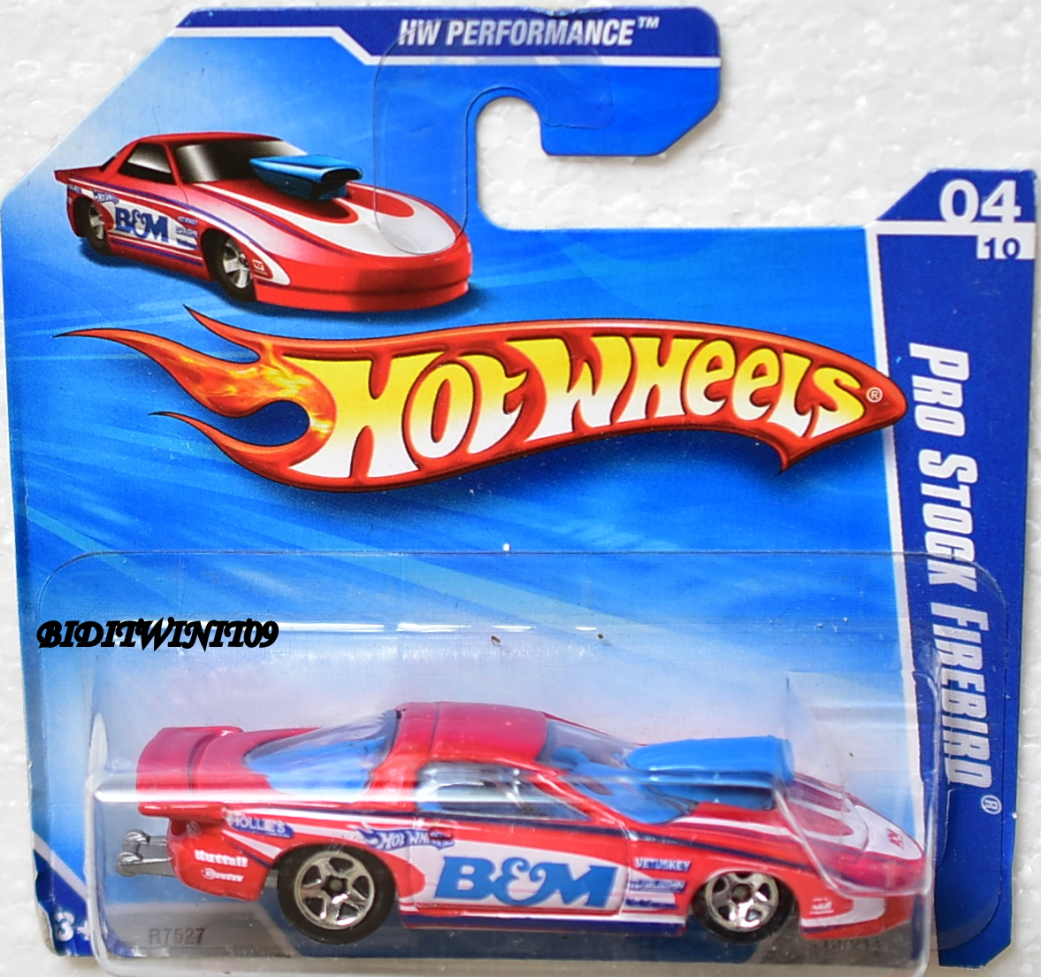 HOT WHEELS 2010 HW PERFORMANCE PRO STOCK FIREBIRD #04/10 RED SHORT CARD E+