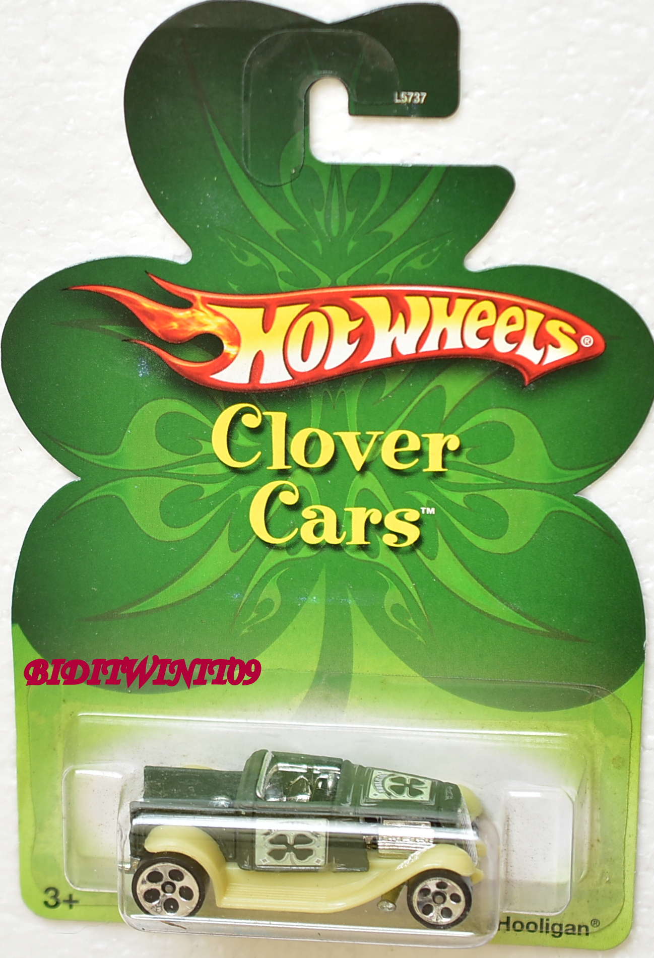 HOT WHEELS 2007 CLOVER CARS HOOLIGAN GREEN