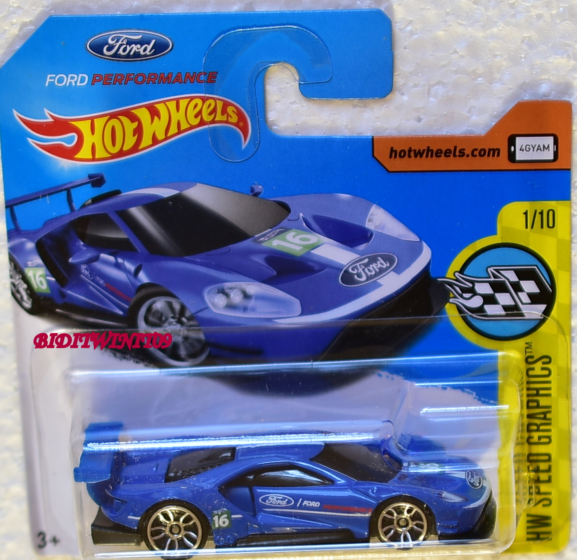 Hot Wheels  Hw Speed Graphics  Ford Gt Race   Blue Short