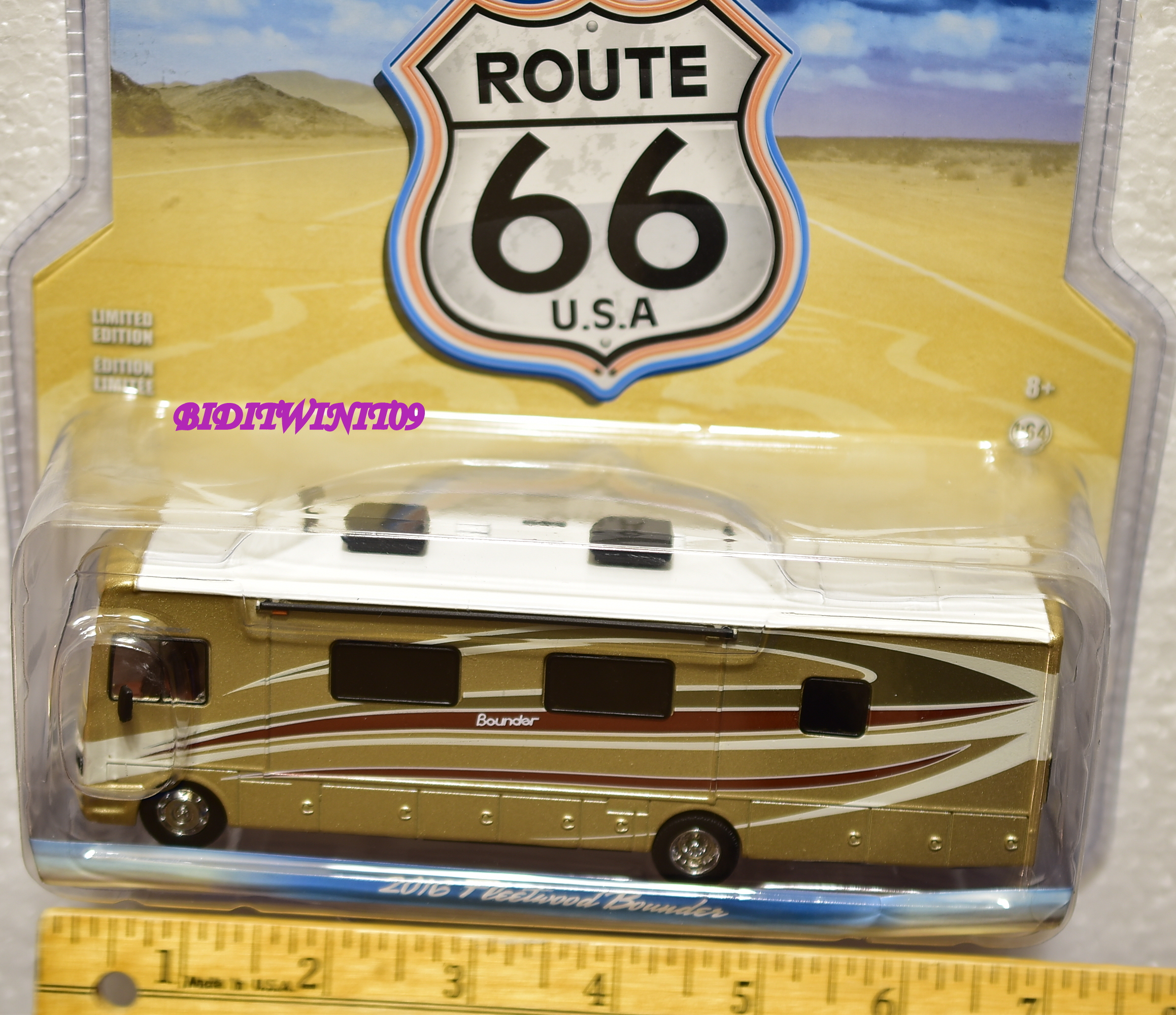 GREENLIGHT ROUTE 66 U.S.A 2016 FREETWOOD BOUNDER