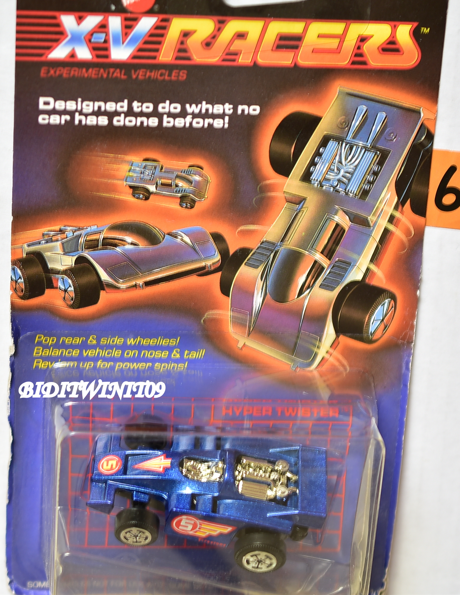HOT WHEELS 1985 X -V RACERS BLUE