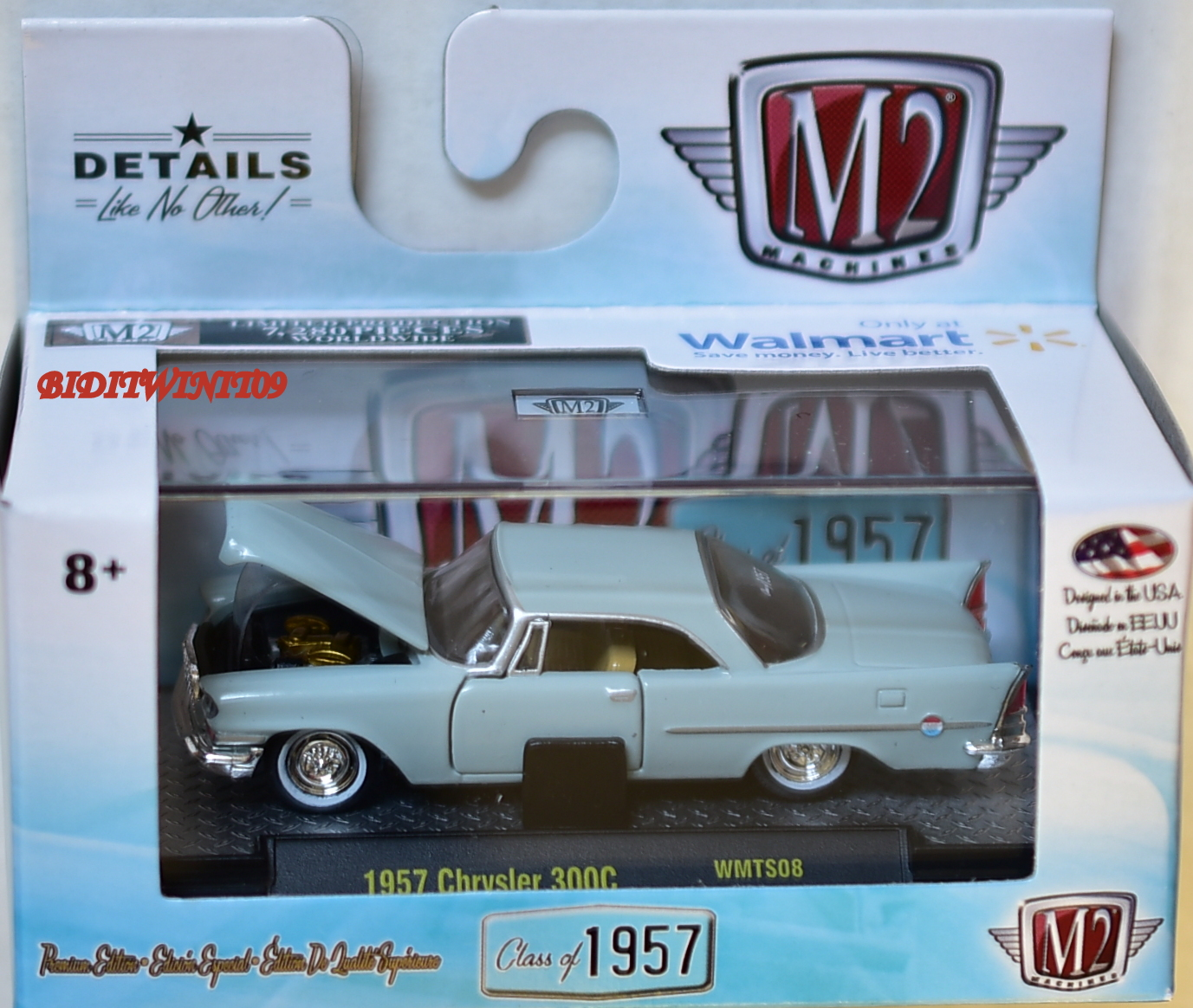 M2 MACHINES WALMART EXCLUSIVE 1957 CHRYSLER 300C WMTS08