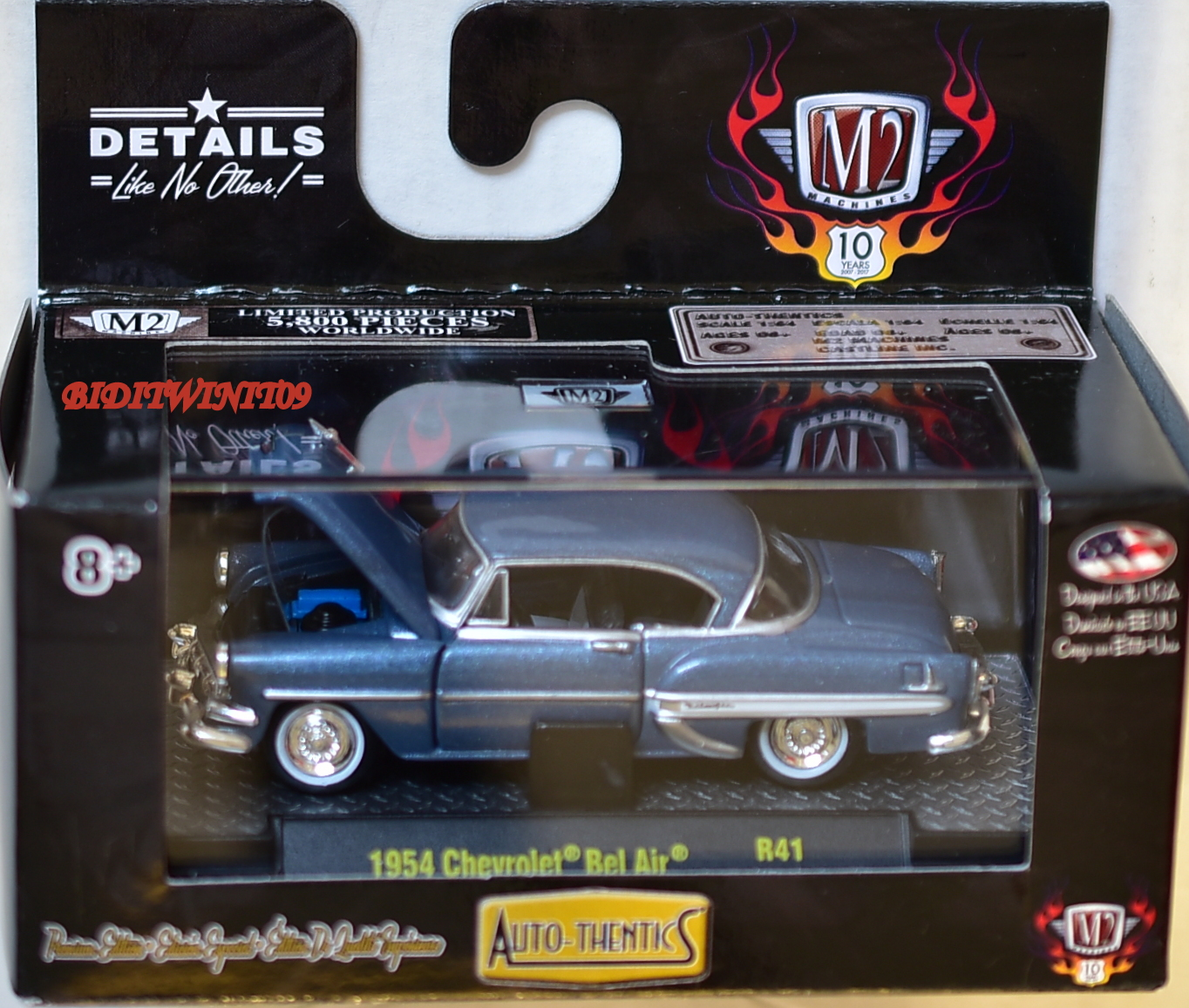 M2 MACHINES AUTO THENTICS 1954 CHEVROLET BEL AIR R41 E+