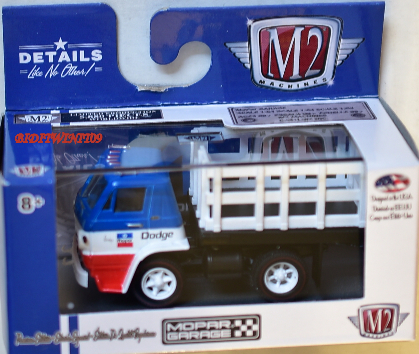 M2 MACHINES MOPAR GARAGE 1966 DODGE l600 TRUCK R36 E+