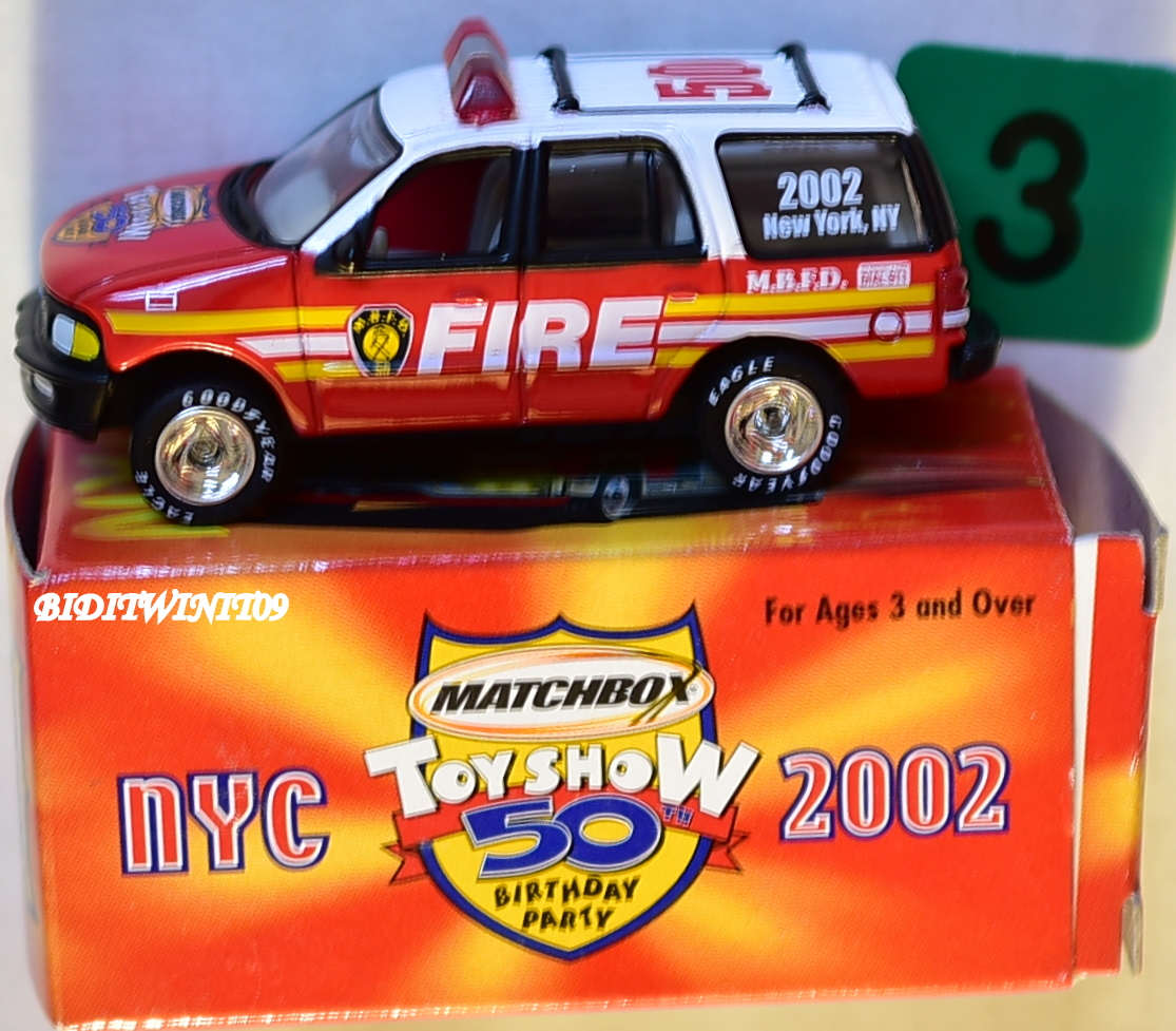 MATCHBOX 2002 NEW YORK CITY 50TH ANNIVERSARY FORD EXPEDITION