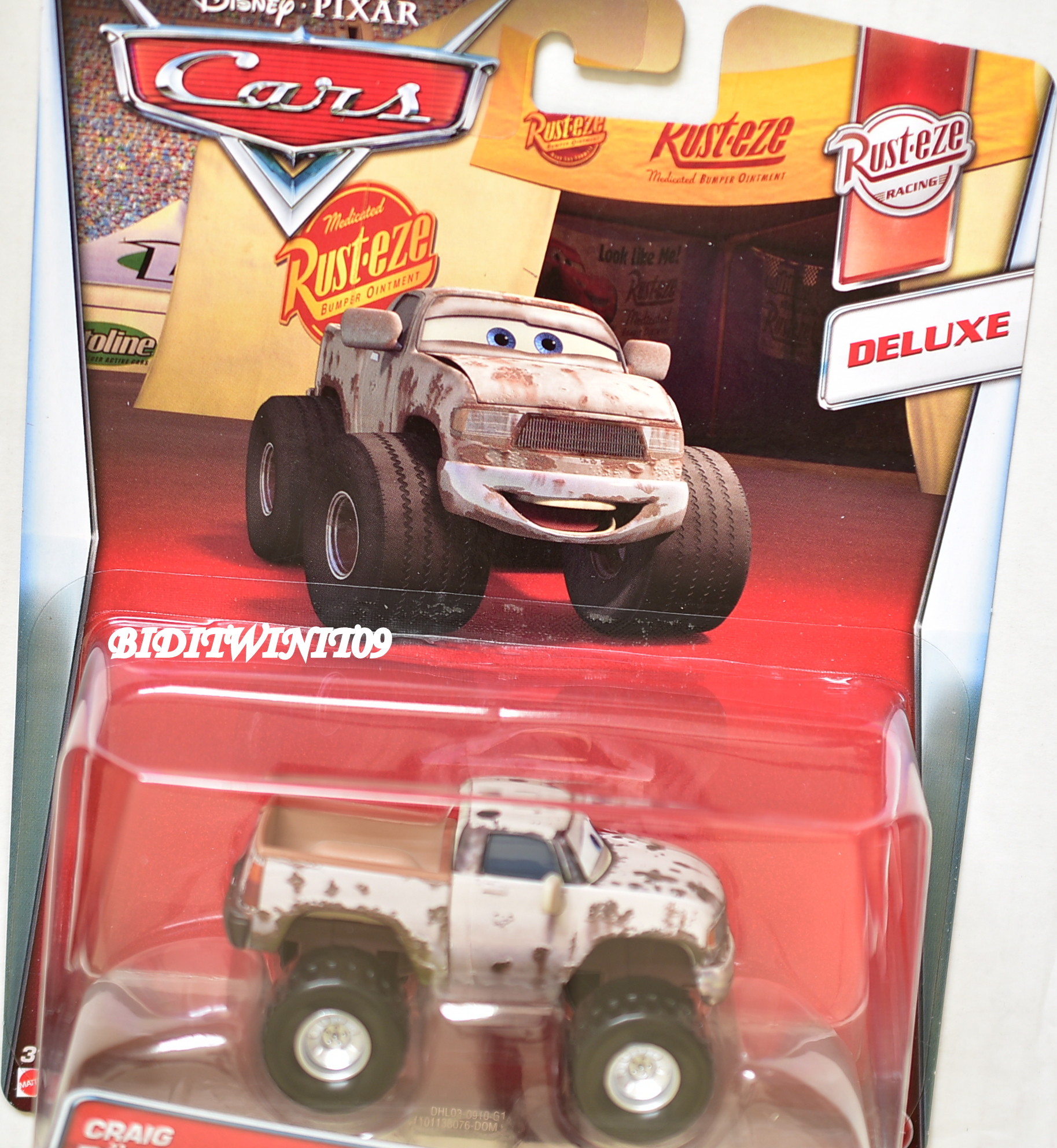 DISNEY PIXAR CARS DELUXE RUST EZE RACING CRAIG FASTER RUST EZE RACING