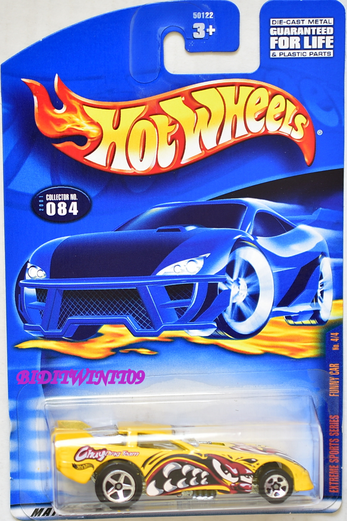 HOT WHEELS 2001 EXTREME SPORTS SERIES FUNNY CAR #084