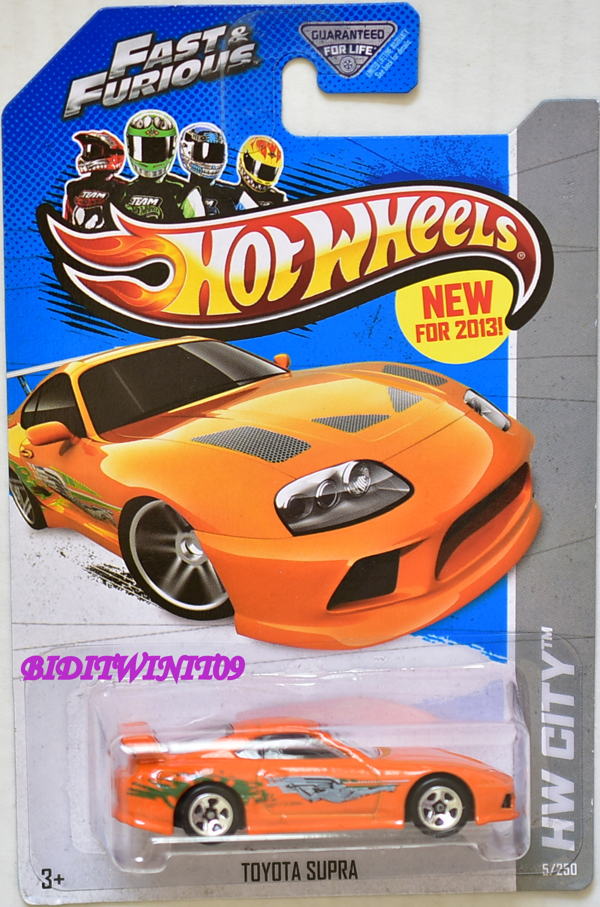 HOT WHEELS 2013 HW CITY - STREET POWER TOYOTA SUPRA ORANGE