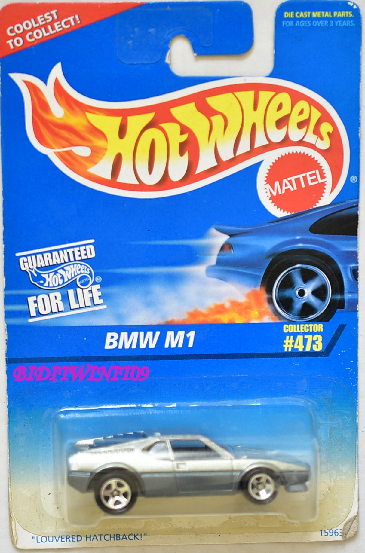 HOT WHEELS 1996 BMW M1 #473 BAD CARD