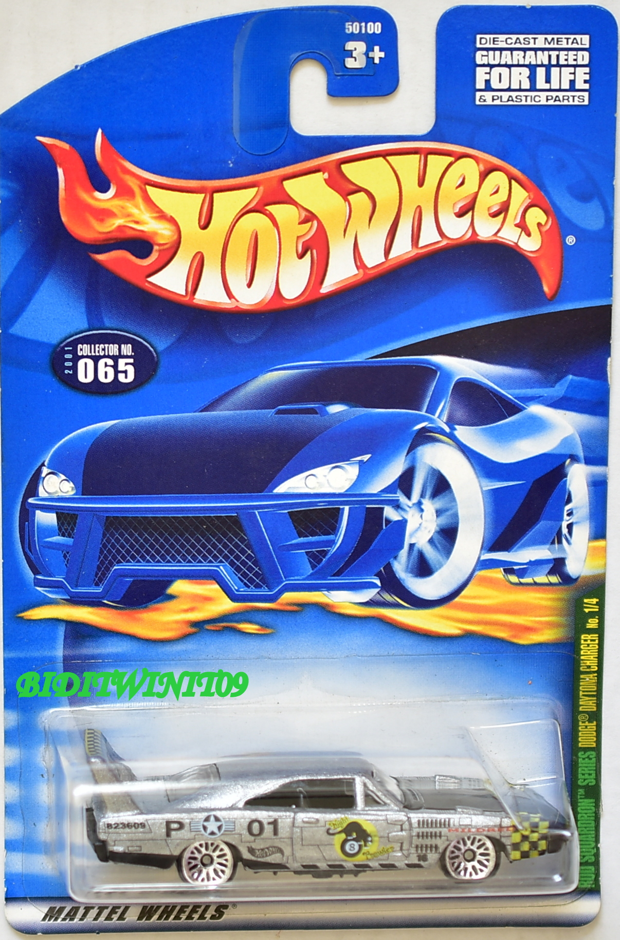 HOT WHEELS 2001 ROD SQUADRON SERIES DODGE DAYTONA CHARGER #1/4