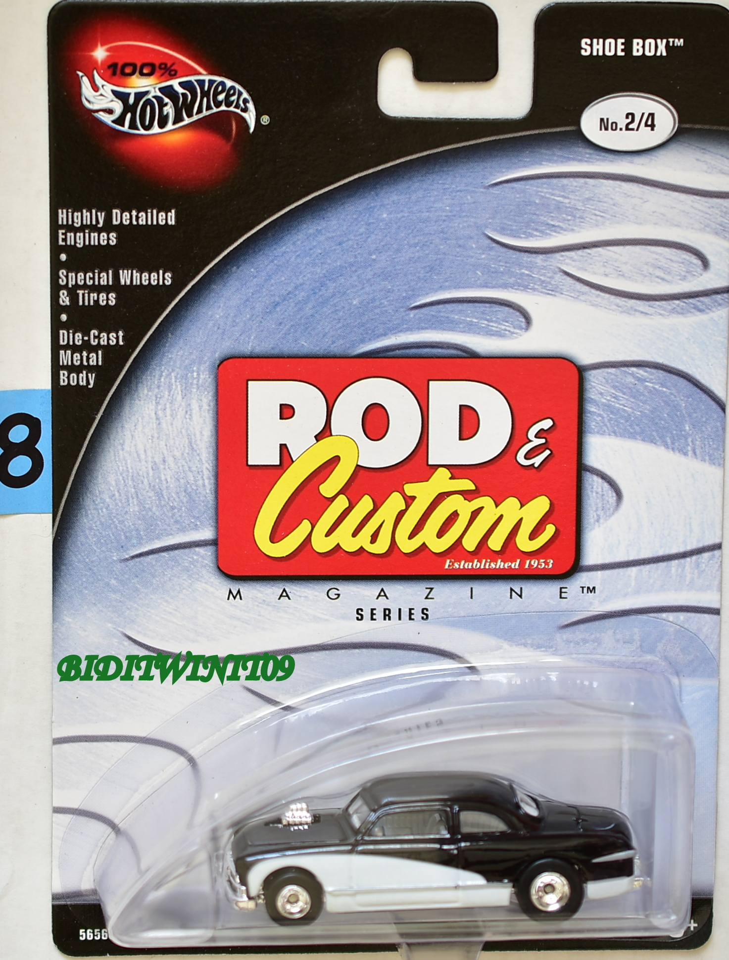HOT WHEELS 100% ROD & CUSTOM SHOE BOX BLACK #2/4