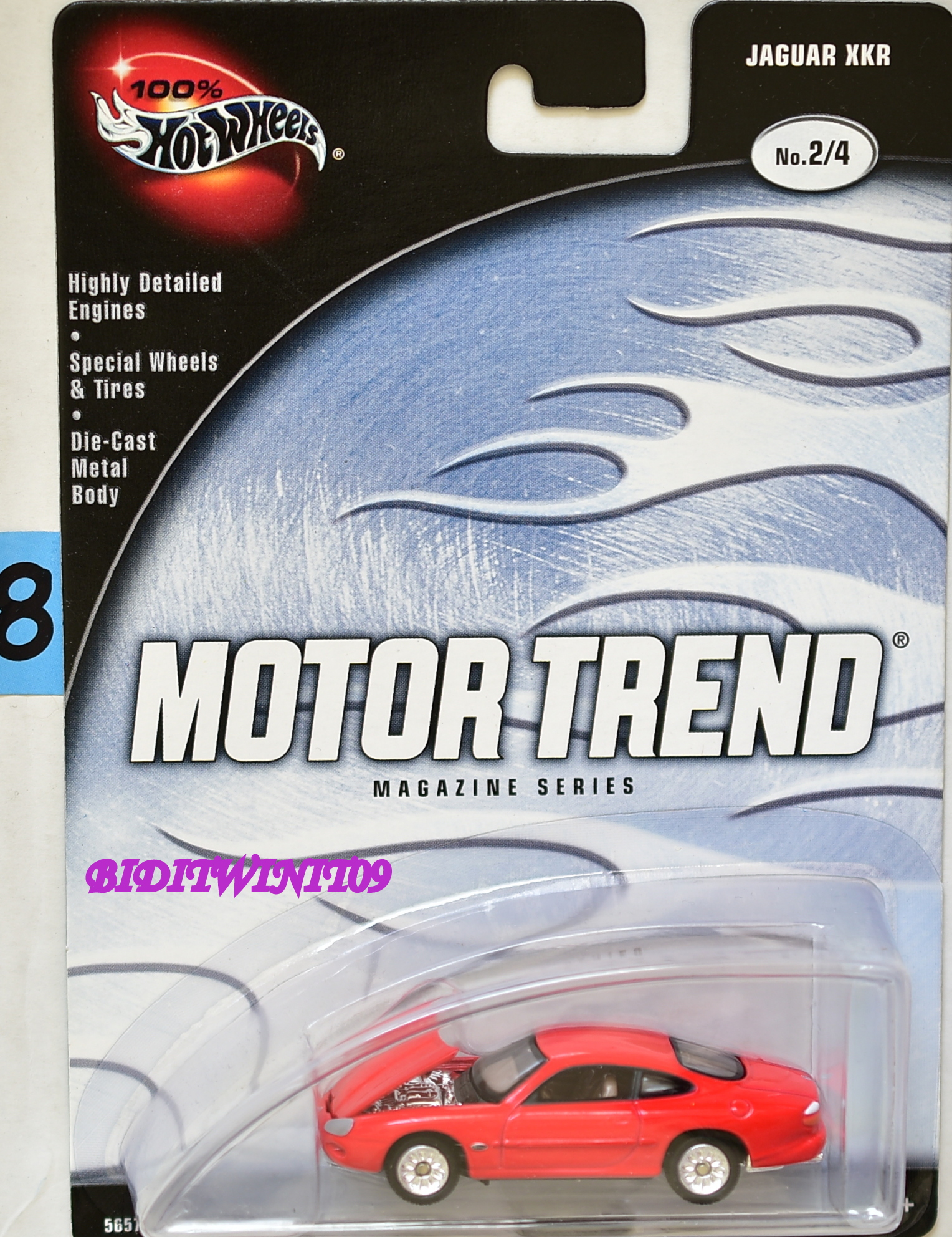 100% HOT WHEELS MOTOR TREND MAGAZINE SERIES JAGUAR XKR #2/4 RED