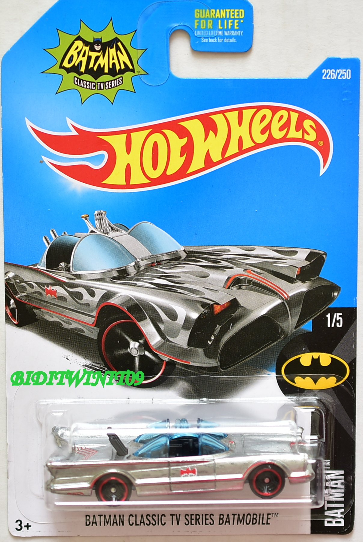HOT WHEELS 2016 BATMAN CLASSIC TV SERIES BATMOBILE #1/5 ZAMAC