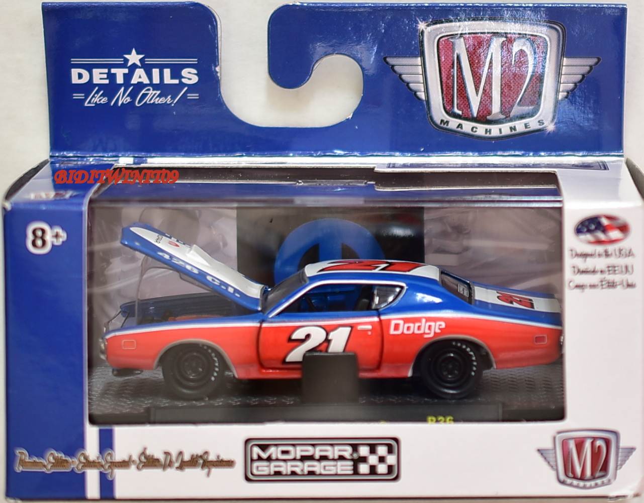 M2 MACHINES MOPAR GARAGE 1971 DODGE CHARGER R/T HEMI R36