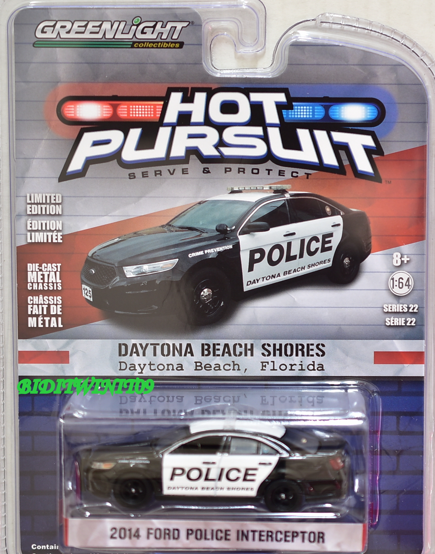 2017 GREENLIGHT 2014 FORD POLICE INTERCEPTOR HOT PURSUIT SERIES 22