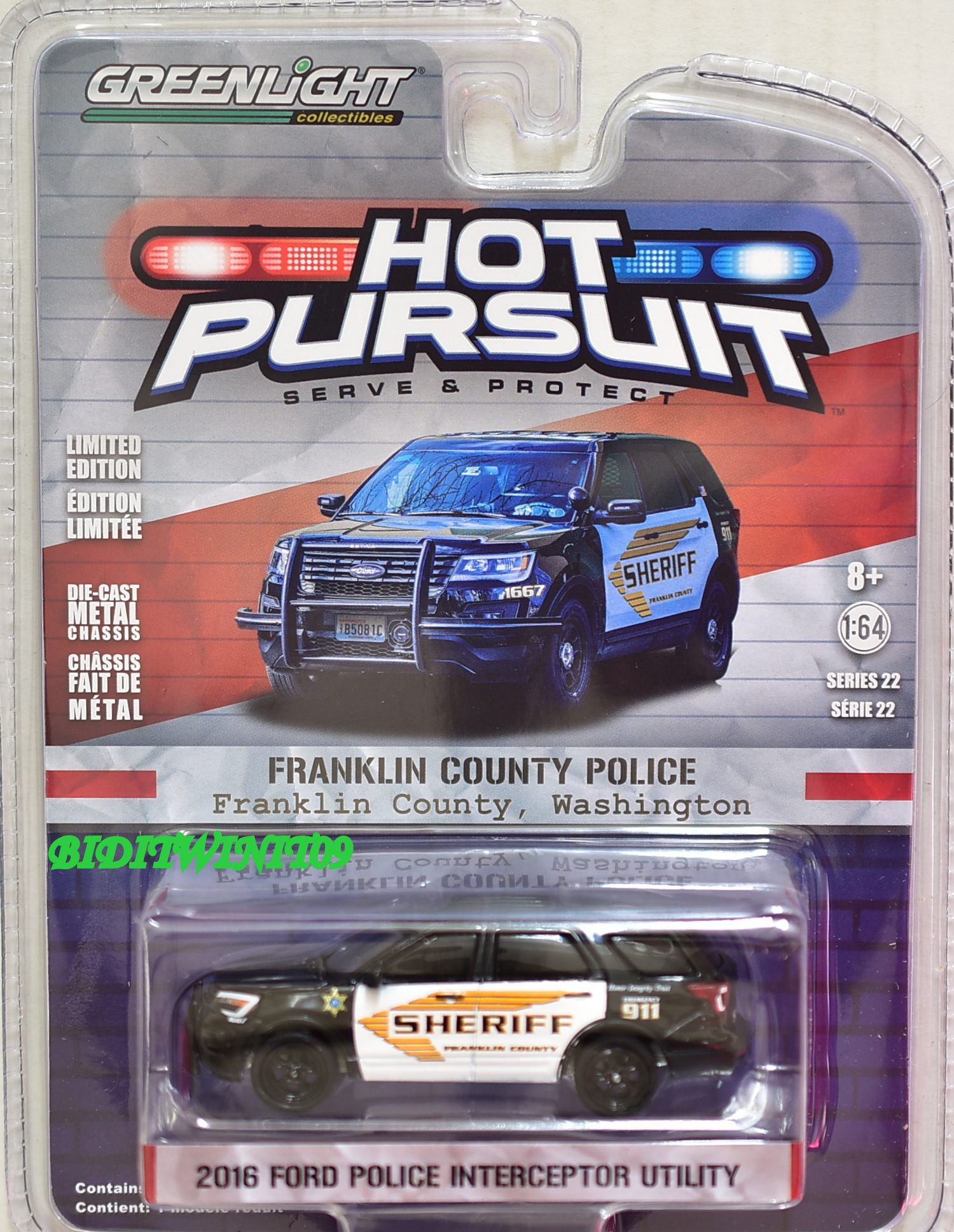 2017 GREENLIGHT 2016 FORD POLICE INTERCEPTOR UTILITY SHERIFF HOT PURSUIT