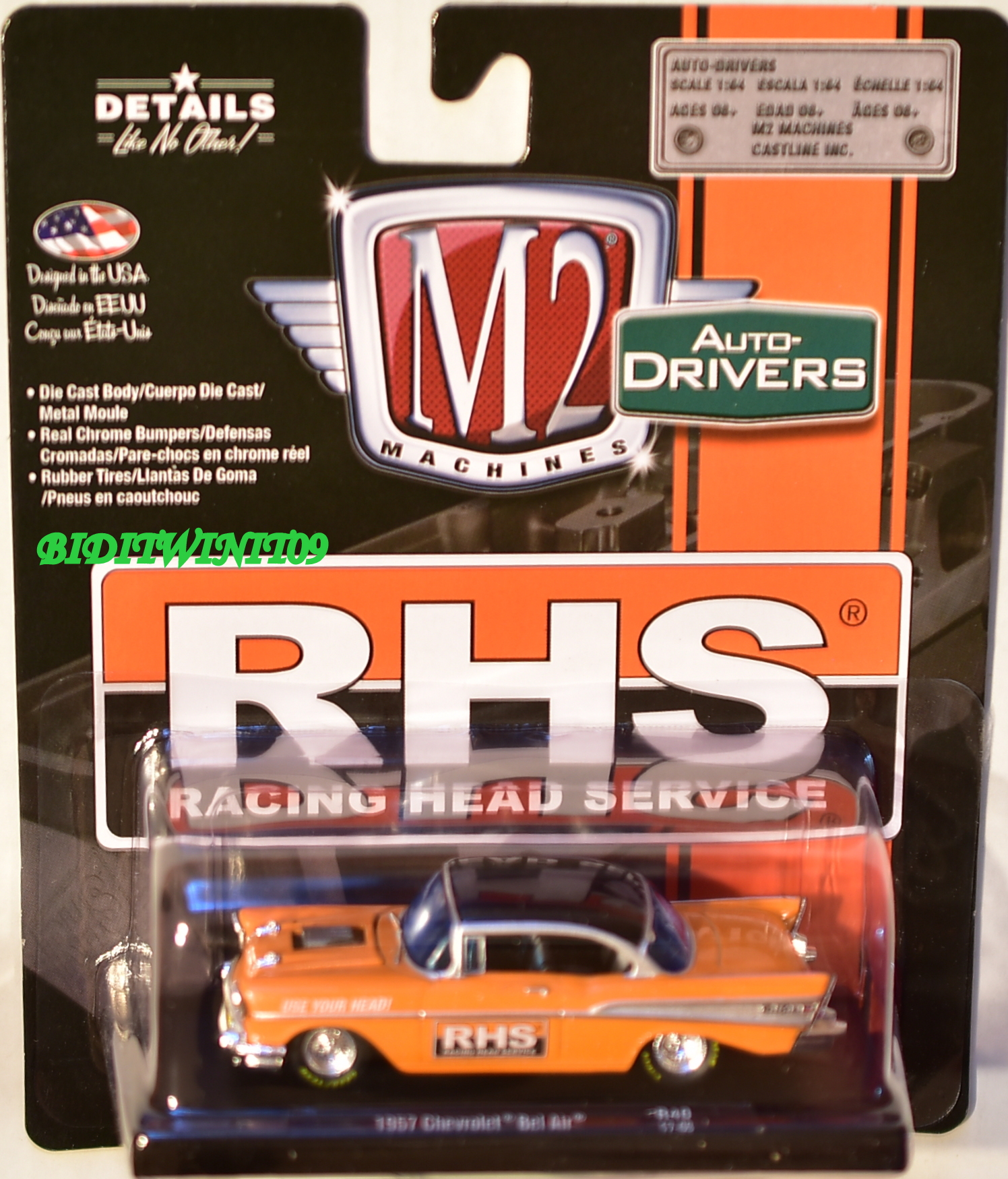 M2 MACHINES AUTO-DRIVERS 1957 CHEVROLET BEL AIR R40 RHS