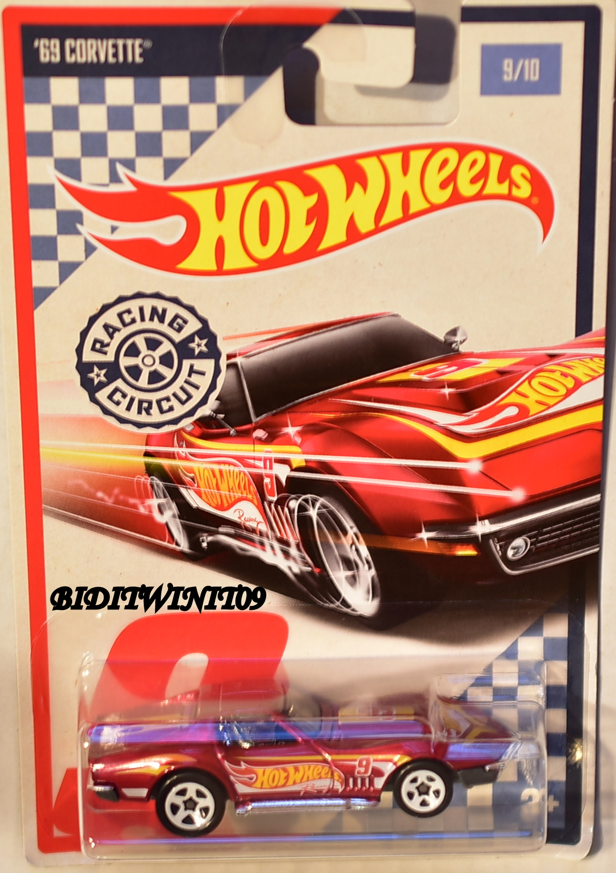 hot wheels racing circuit 9 10 39 69 corvette 0000859. Black Bedroom Furniture Sets. Home Design Ideas