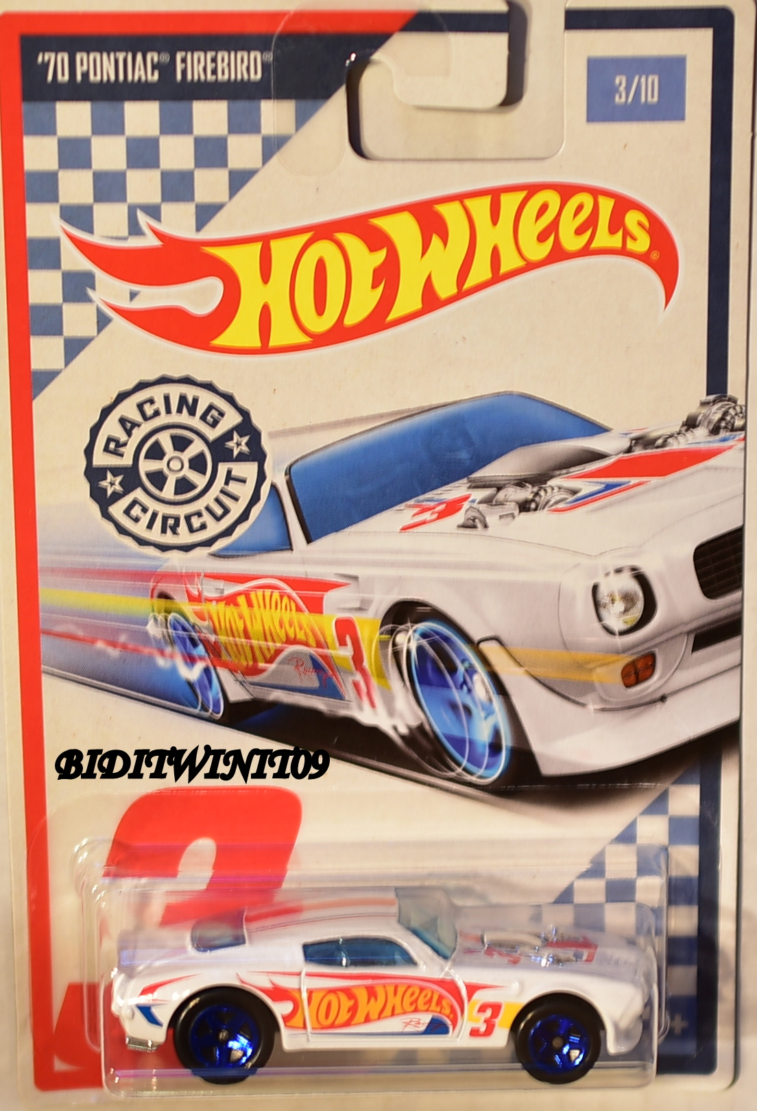 HOT WHEELS RACING CIRCUIT #3/10 '70 PONTIAC FIREBIRD