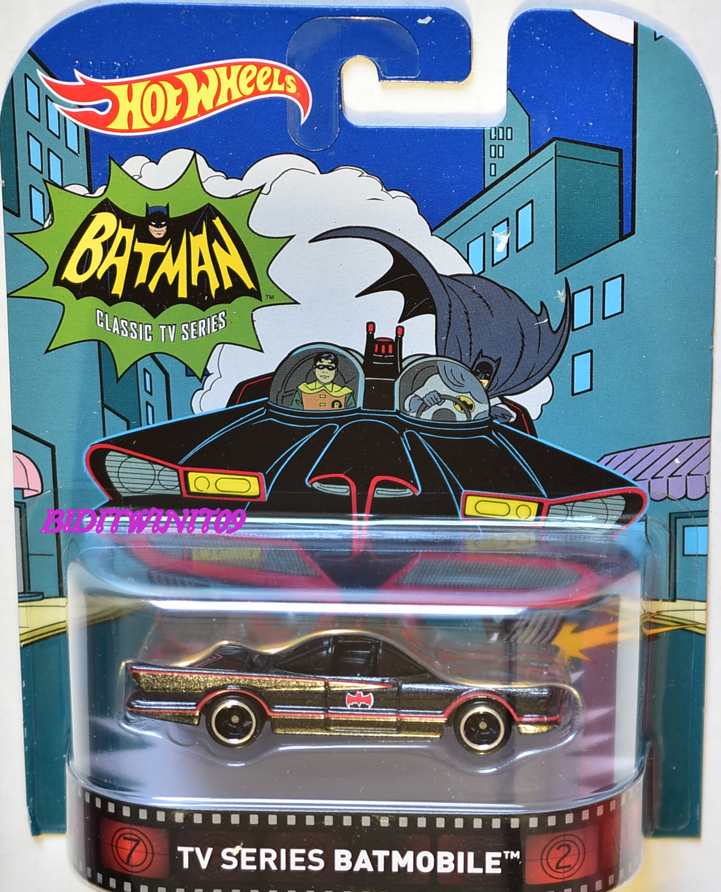 HOT WHEELS 2016 RETRO ENTERTAINMENT BATMAN CLASSIC TV SERIES BATMOBILE