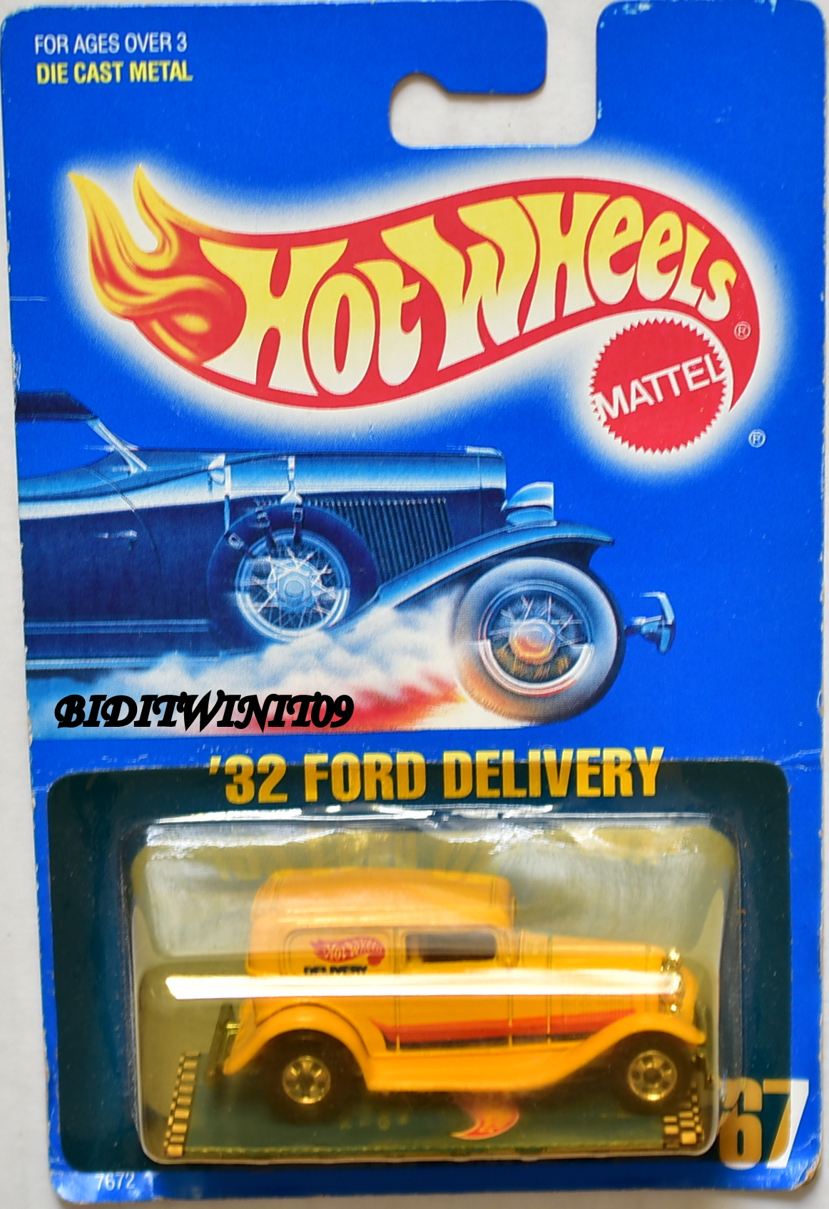 HOT WHEELS 1989 BLUE CARD '32 FORD DELIVERY E+