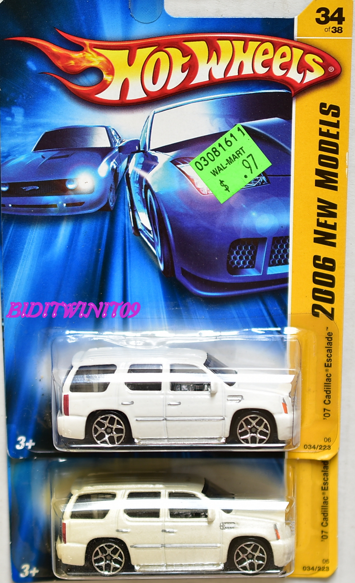 HOT WHEELS 2006 NEW MODELS '07 CADILLAC ESCALADE COLOR VARIATION E+