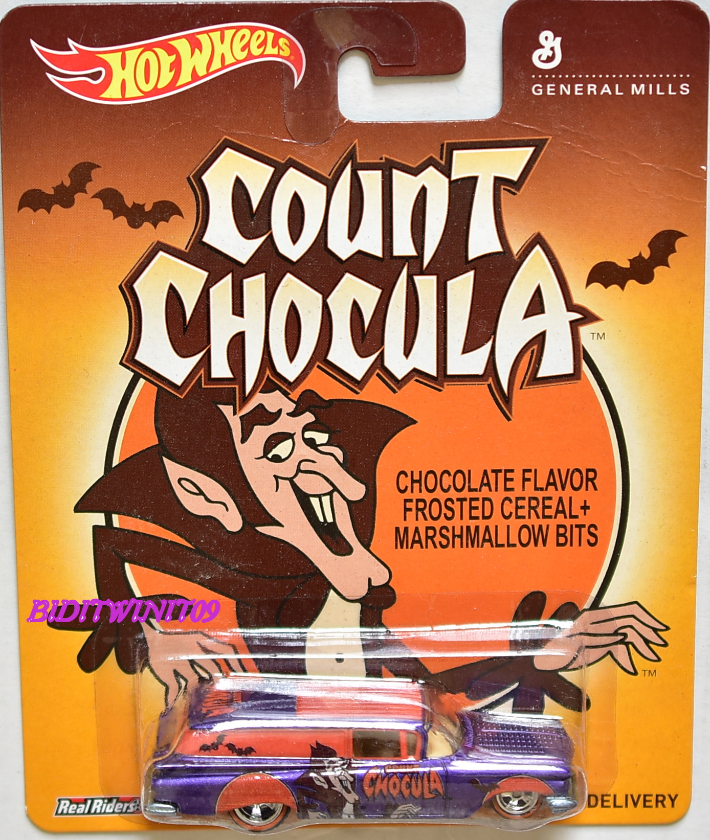 HOT WHEELS POP CULTURE COUNT CHOCULA '59 CHEVY DELIVERY