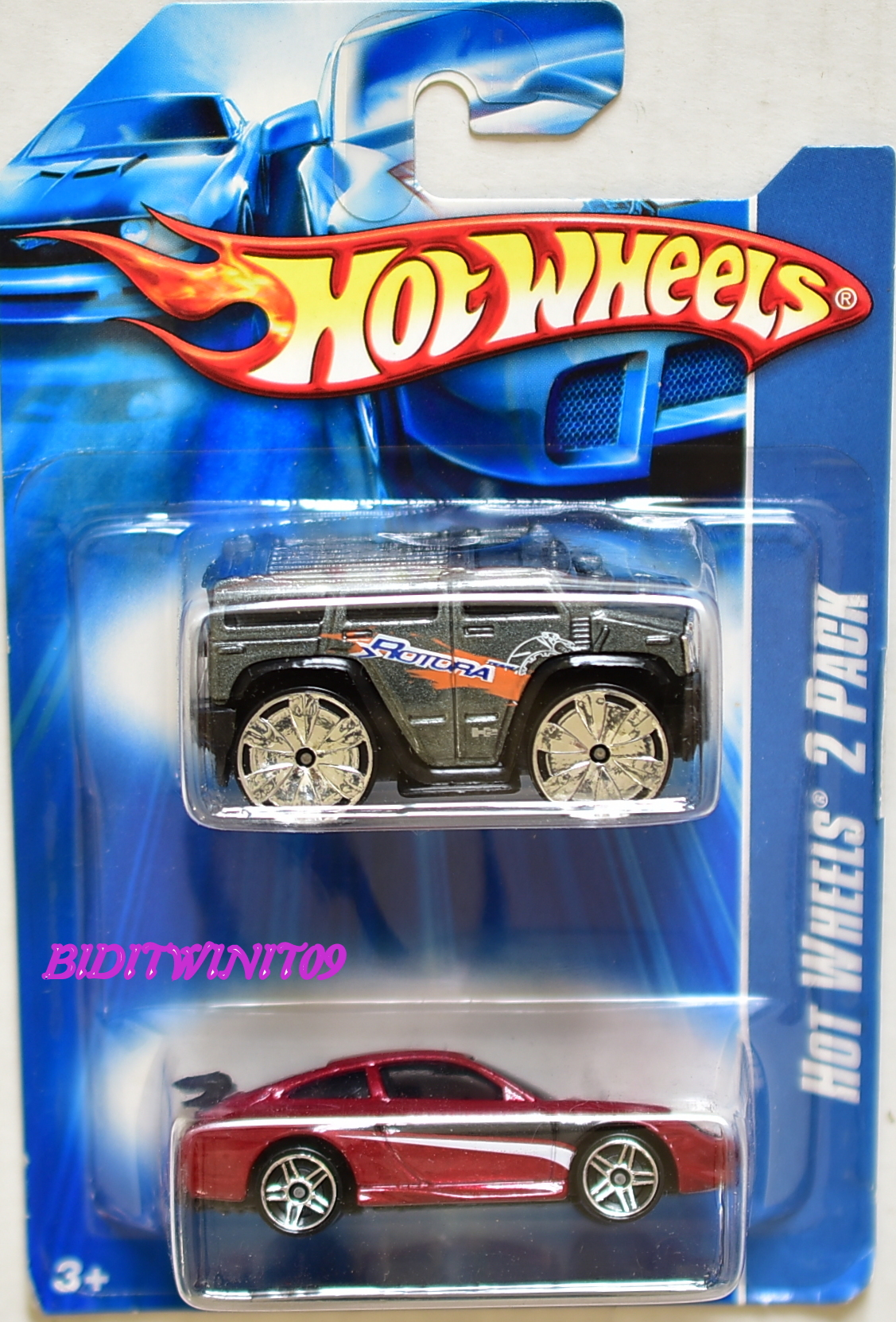 HOT WHEELS 2 CAR PACK 2006 PORSCHE 911 GT3 CUP - HUMMER H2 E+