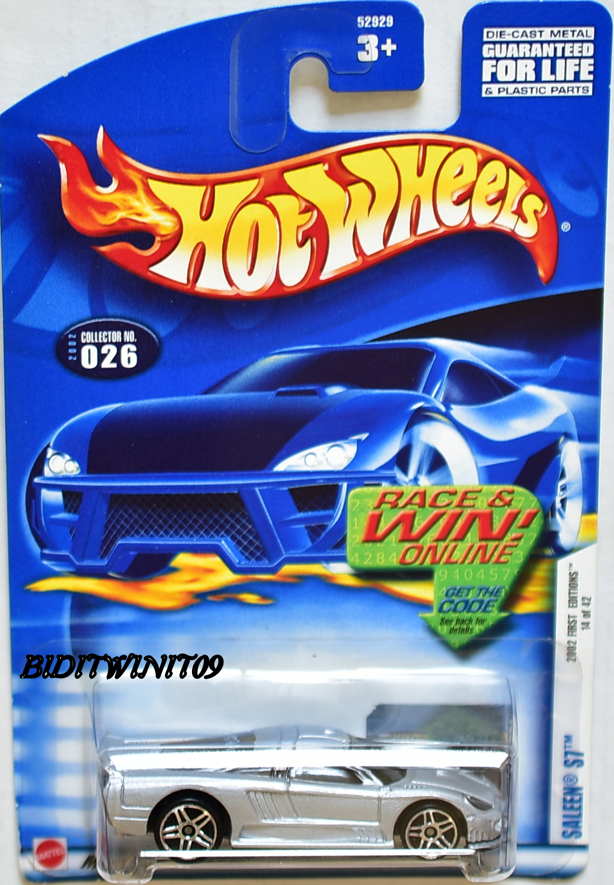HOT WHEELS 2002 FIRST EDITIONS SALEEN S7 #026 W/ BLACK LINE WINDOW