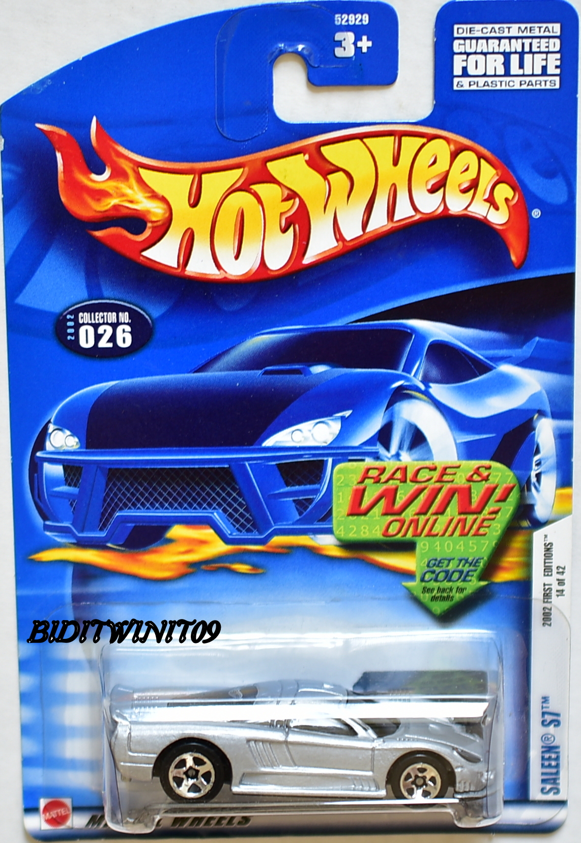 HOT WHEELS 2002 FIRST EDITIONS SALEEN S7 3 SP WHEELS & BLACK LINE WINDOWS E+