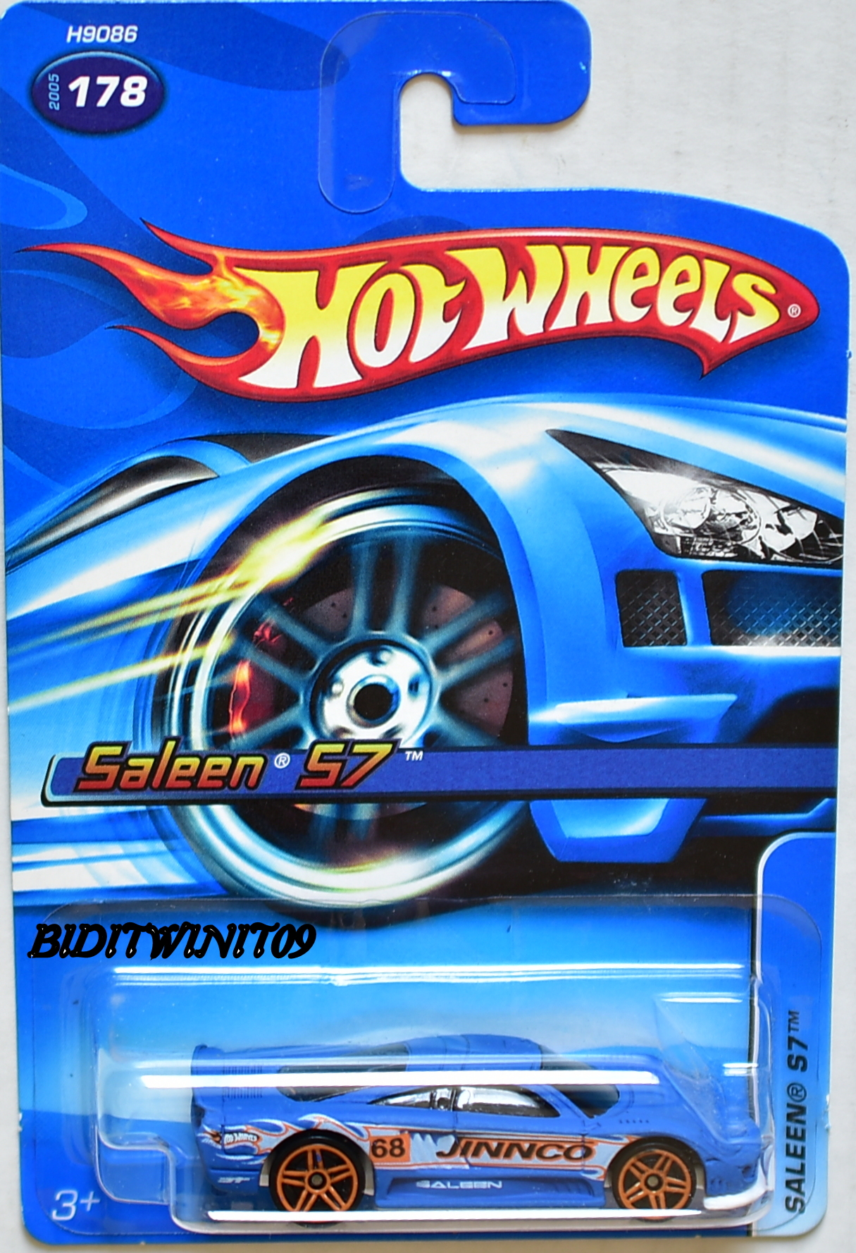 HOT WHEELS 2005 SALEEN S7 #178 JINNCO BLUE E+