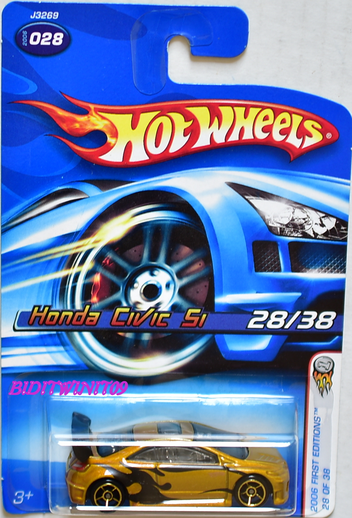 HOT WHEELS 2006 FIRST EDITIONS HONDA CIVIC SI #028 GOLD