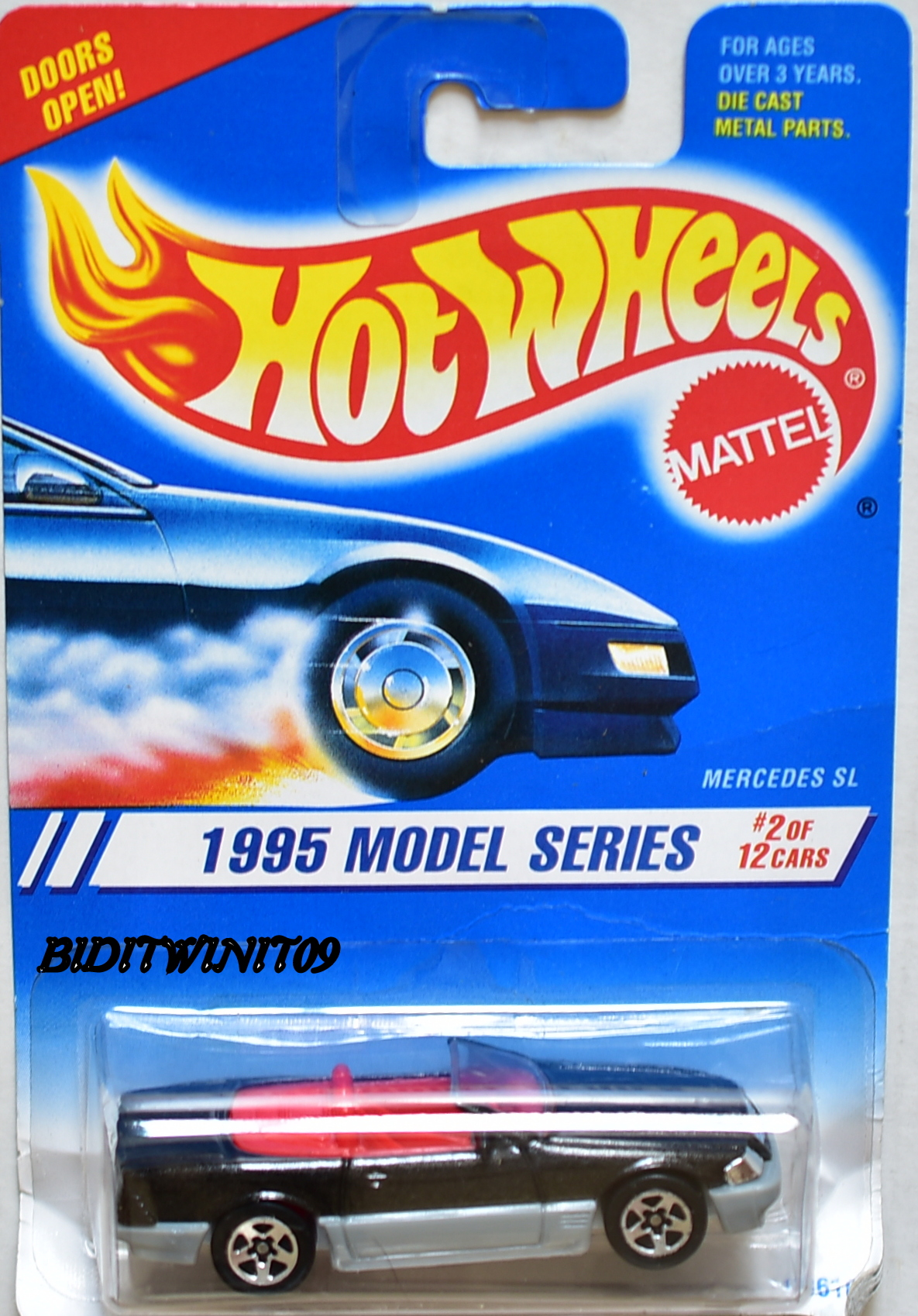 HOT WHEELS 1995 MODEL SERIES #2/12 MERCEDES SL W/ 5 SP WHEELS