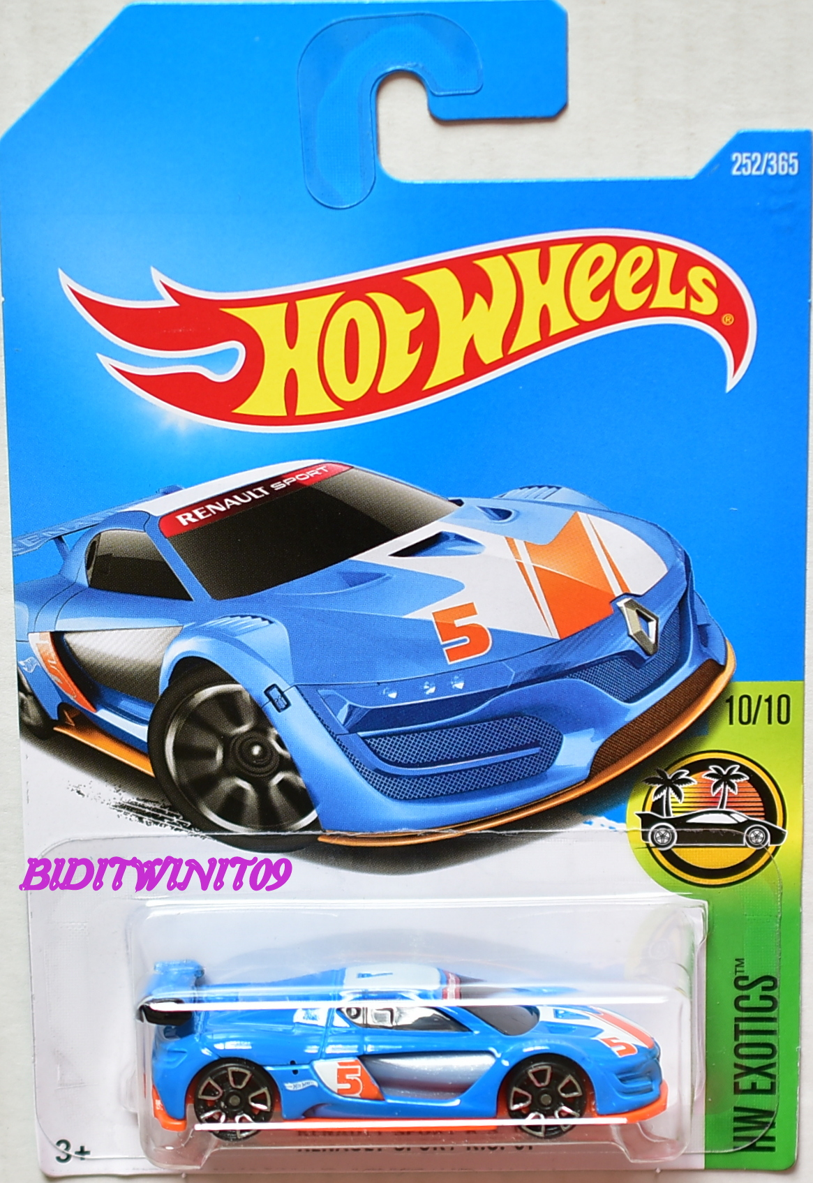 HOT WHEELS 2017 HW EXOTICS RENAULT SPORT R.S. 01 BLUE