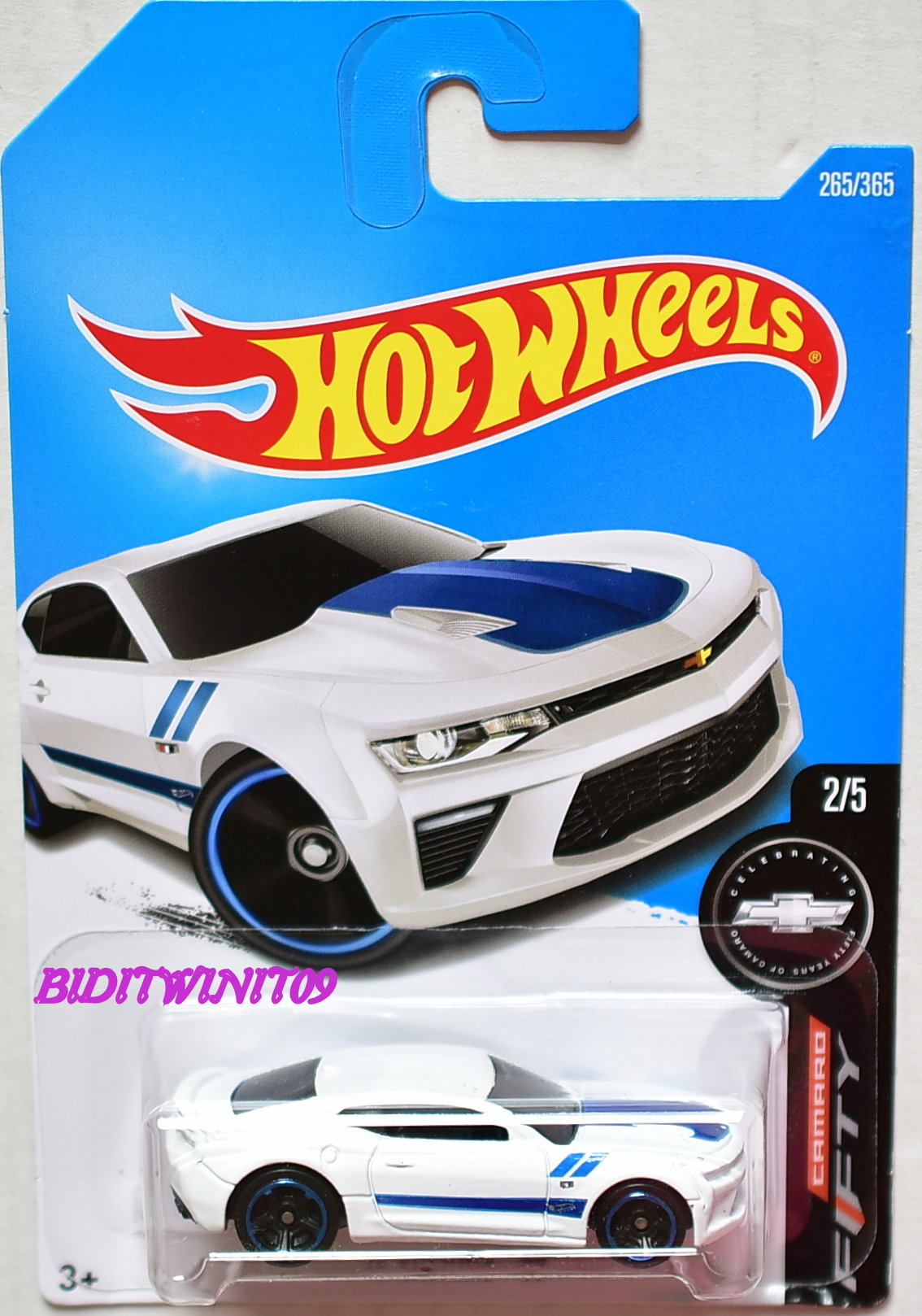 HOT WHEELS 2017 CAMARO FIFTY '16 CAMARO SS #2/5 WHITE