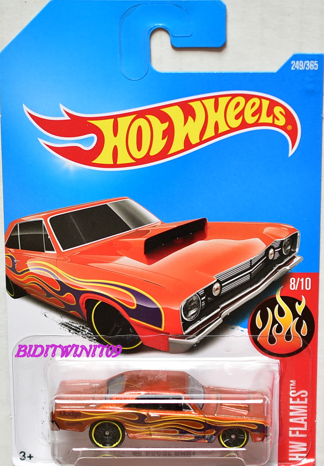 HOT WHEELS 2017 HW FLAMES '68 DODGE DART #8/10
