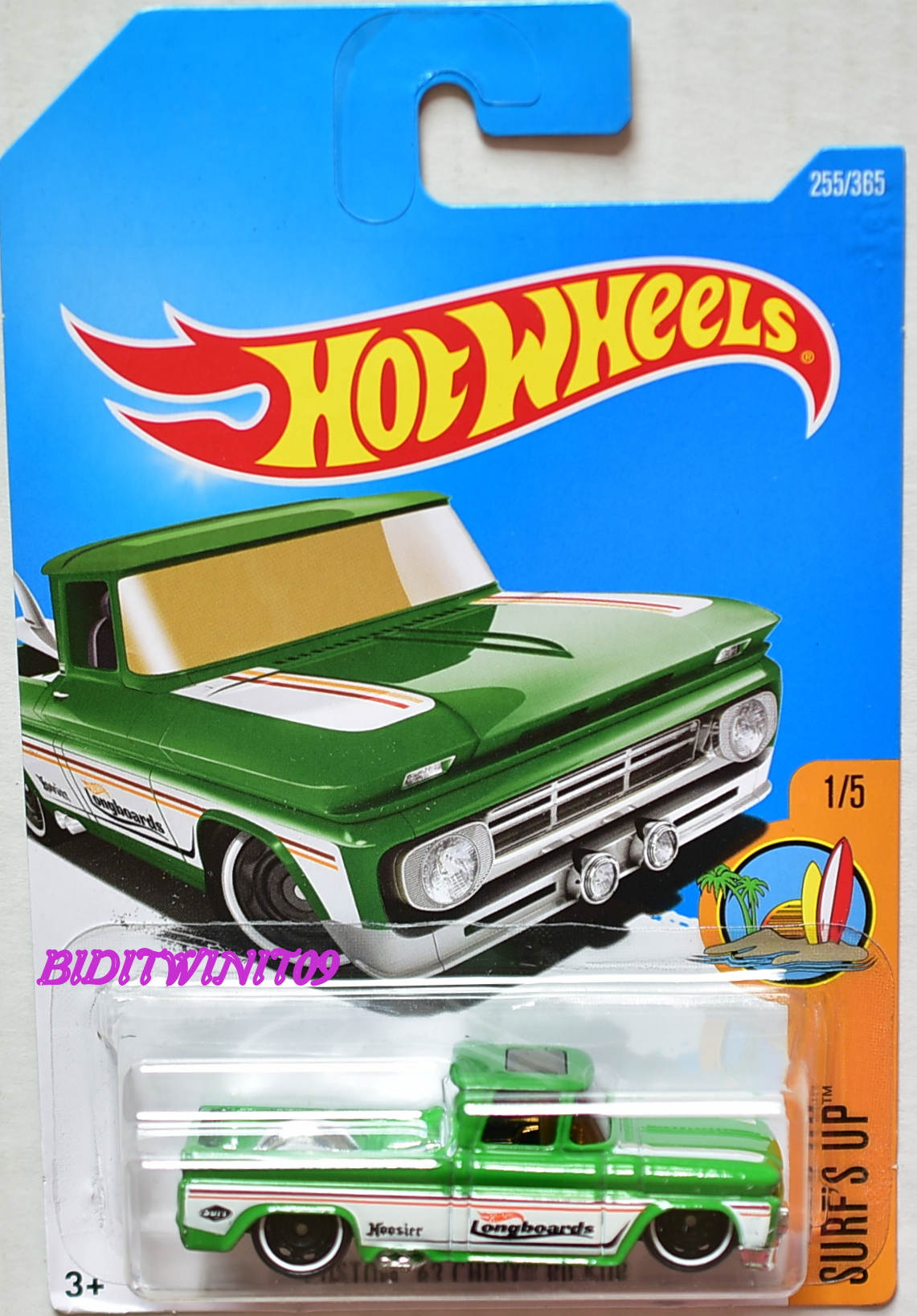 HOT WHEELS 2017 SURF'S UP CUSTOM '62 CHEVY PICKUP #1/5