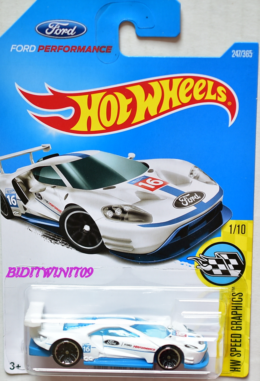 Hot Wheels  Hw Speed Graphics  Ford Gt Race   White