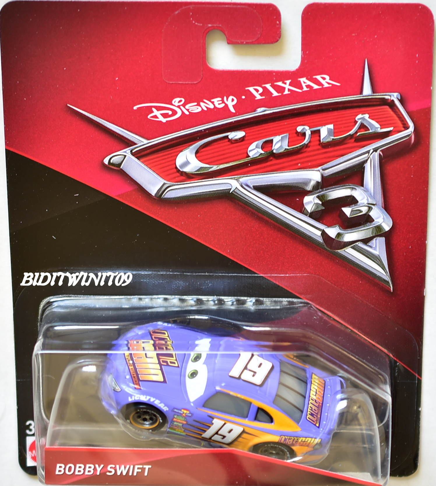 DISNEY PIXAR CARS 3 2017 BOBBY SWIFT