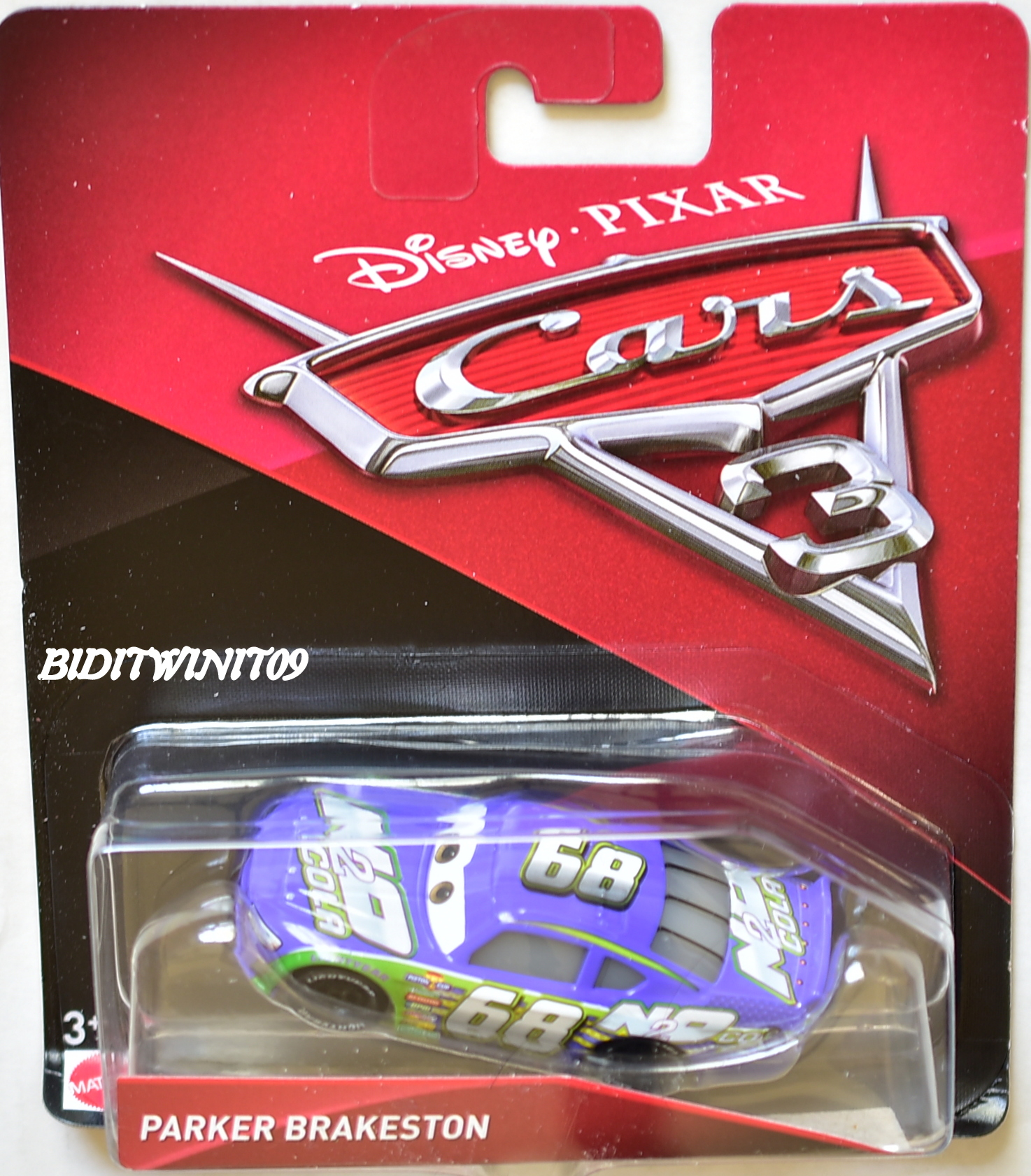 DISNEY PIXAR CARS 3 2017 PARKER BRAKESTON