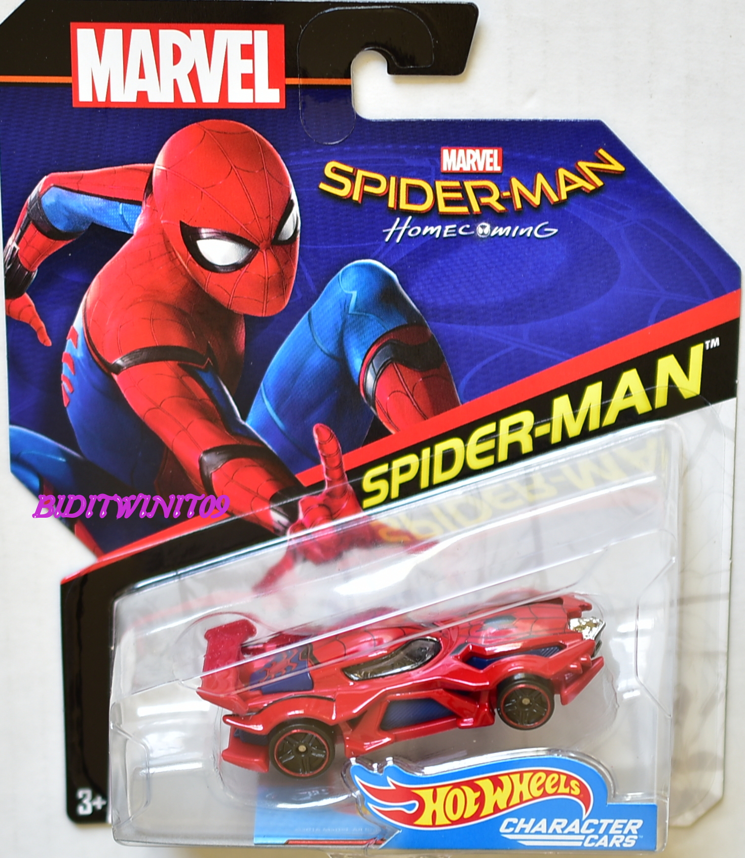 HOT WHEELS 2017 MARVEL CHARACTER CARS HOME COMING SPIDER-MAN