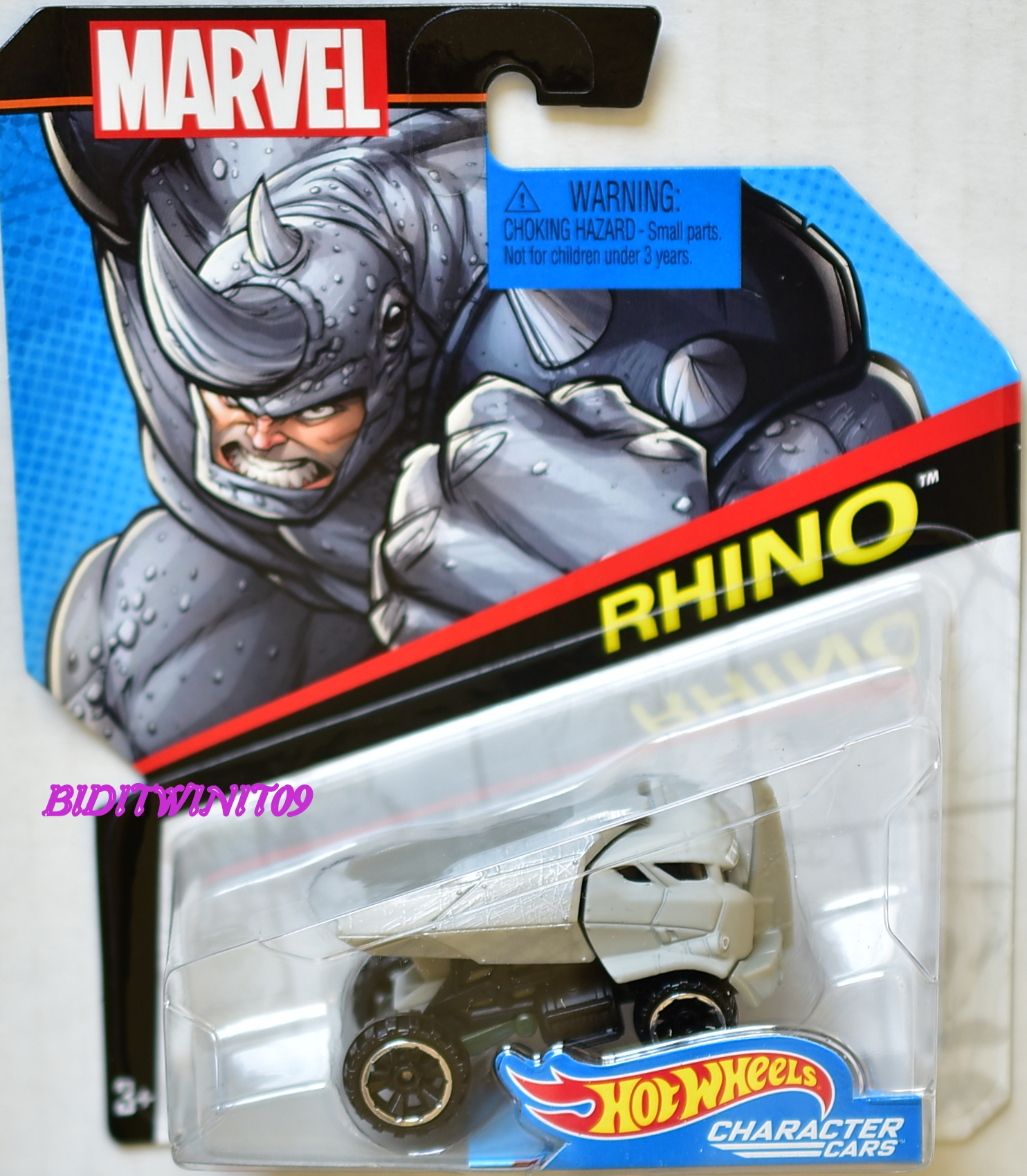HOT WHEELS 2017 MARVEL CHARACTER CARS RHINO