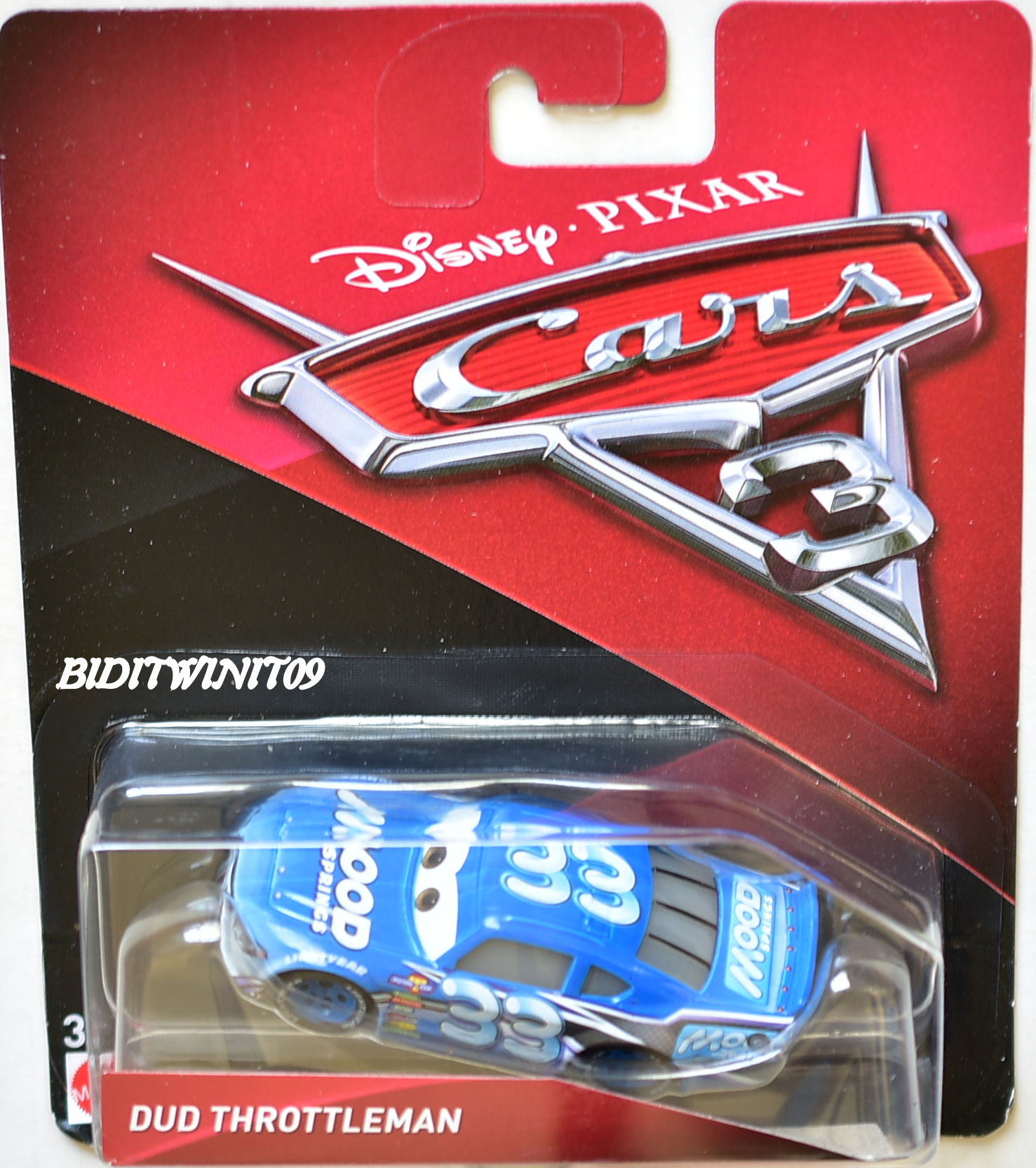DISNEY PIXAR CARS 3 2017 DUD THROTTLEMAN