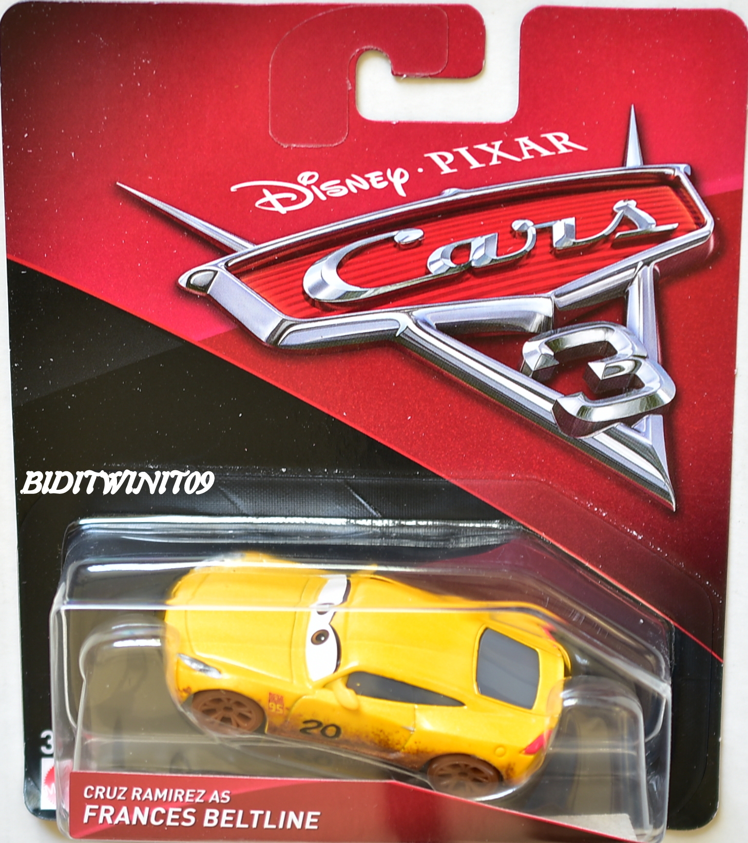 DISNEY PIXAR CARS 3 2017 CRUZ RAMIREZ AS FRANCES BELTLINE YELLOW