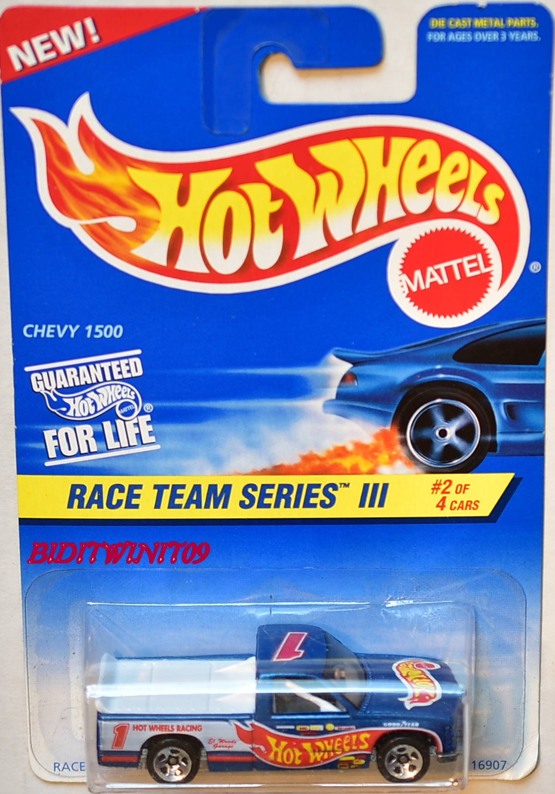 HOT WHEELS1996 RACE TEAM SERIES III CHEVY 1500 #2/4 BLUE