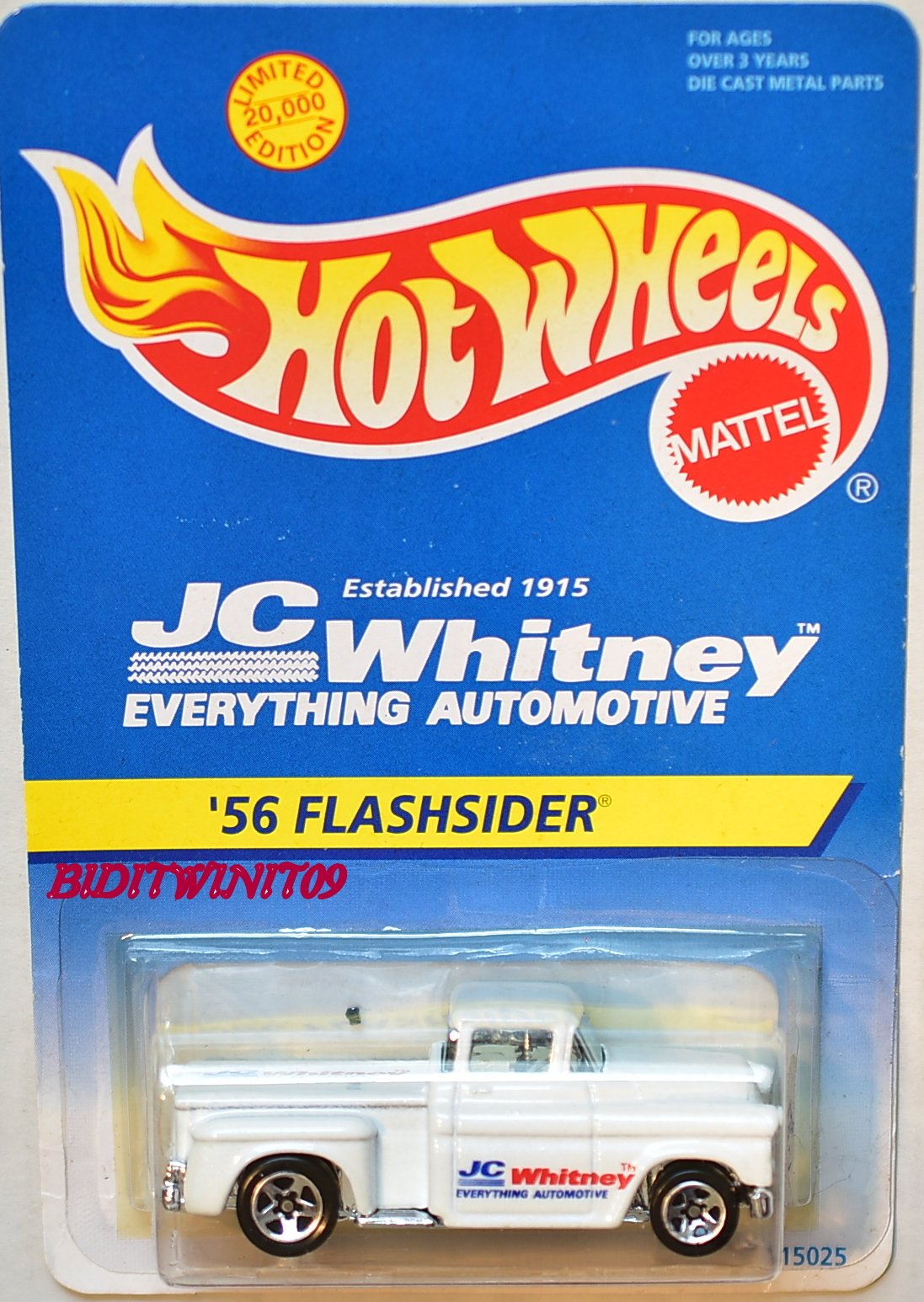 HOT WHEELS JC WHITNEY '56 FLASHSIDER E+