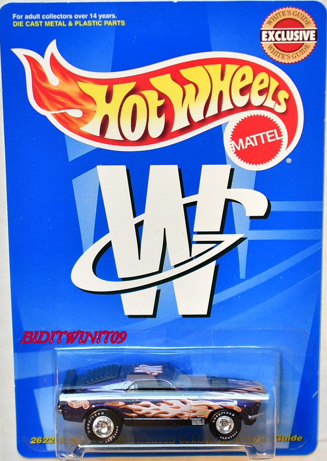 HOT WHEELS WHITE GUIDE EXCLUSIVE MUSTANG MACH 1