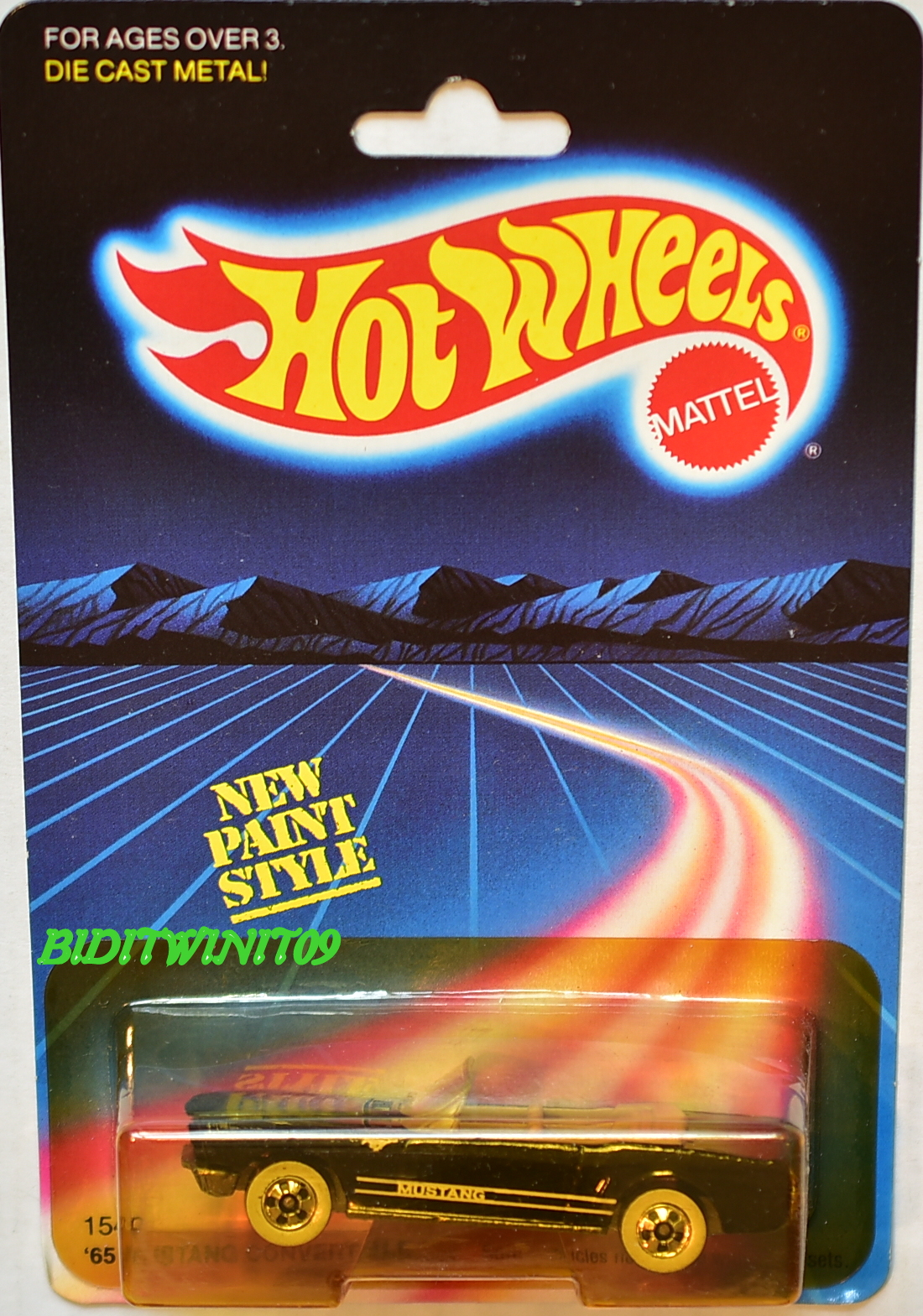 HOT WHEELS 1986 SPEED TRIGGER BLACK E+