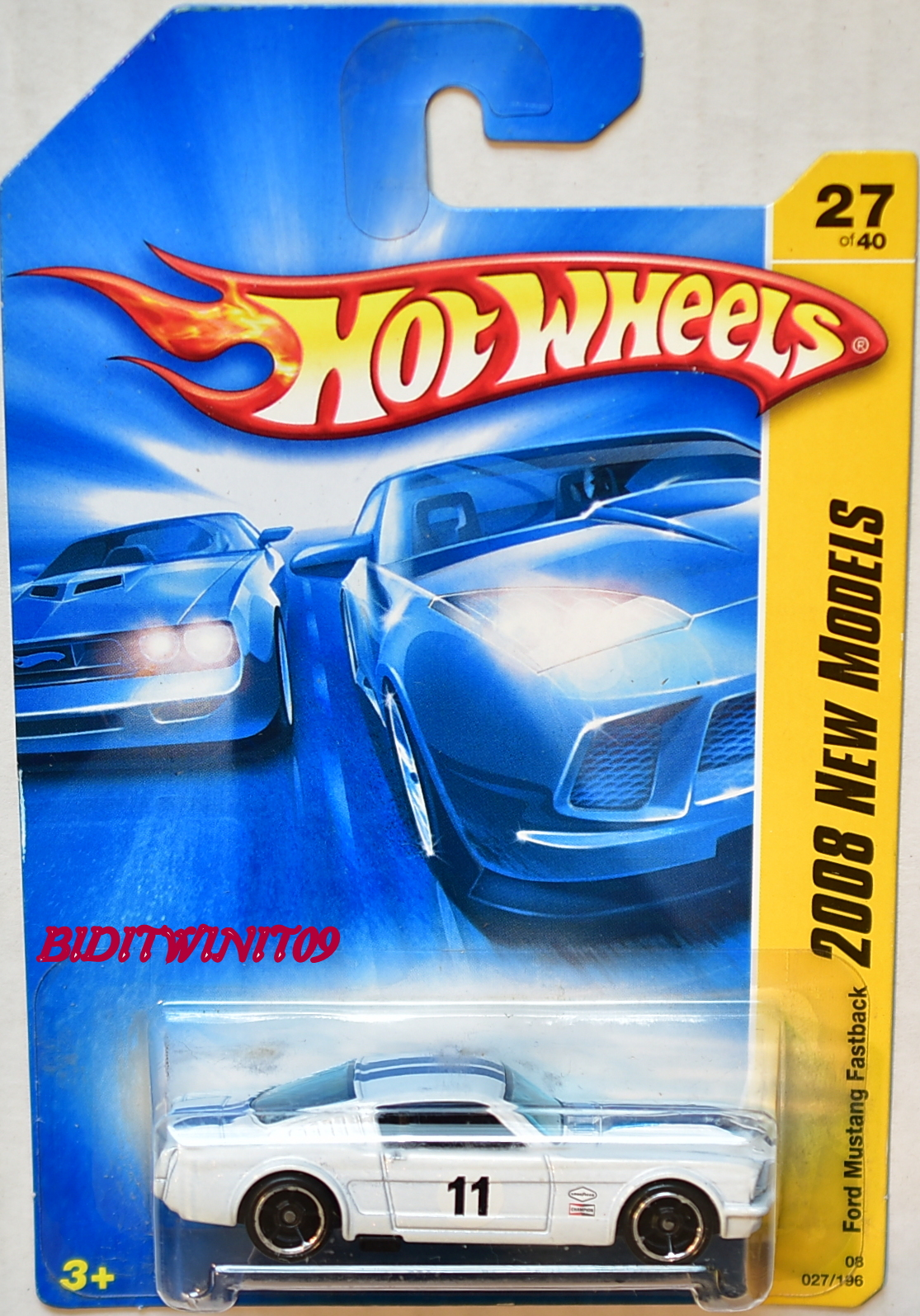 HOT WHEELS 2008 NEW MODELS FORD MUSTANG FASTBACK #27/40 WHITE