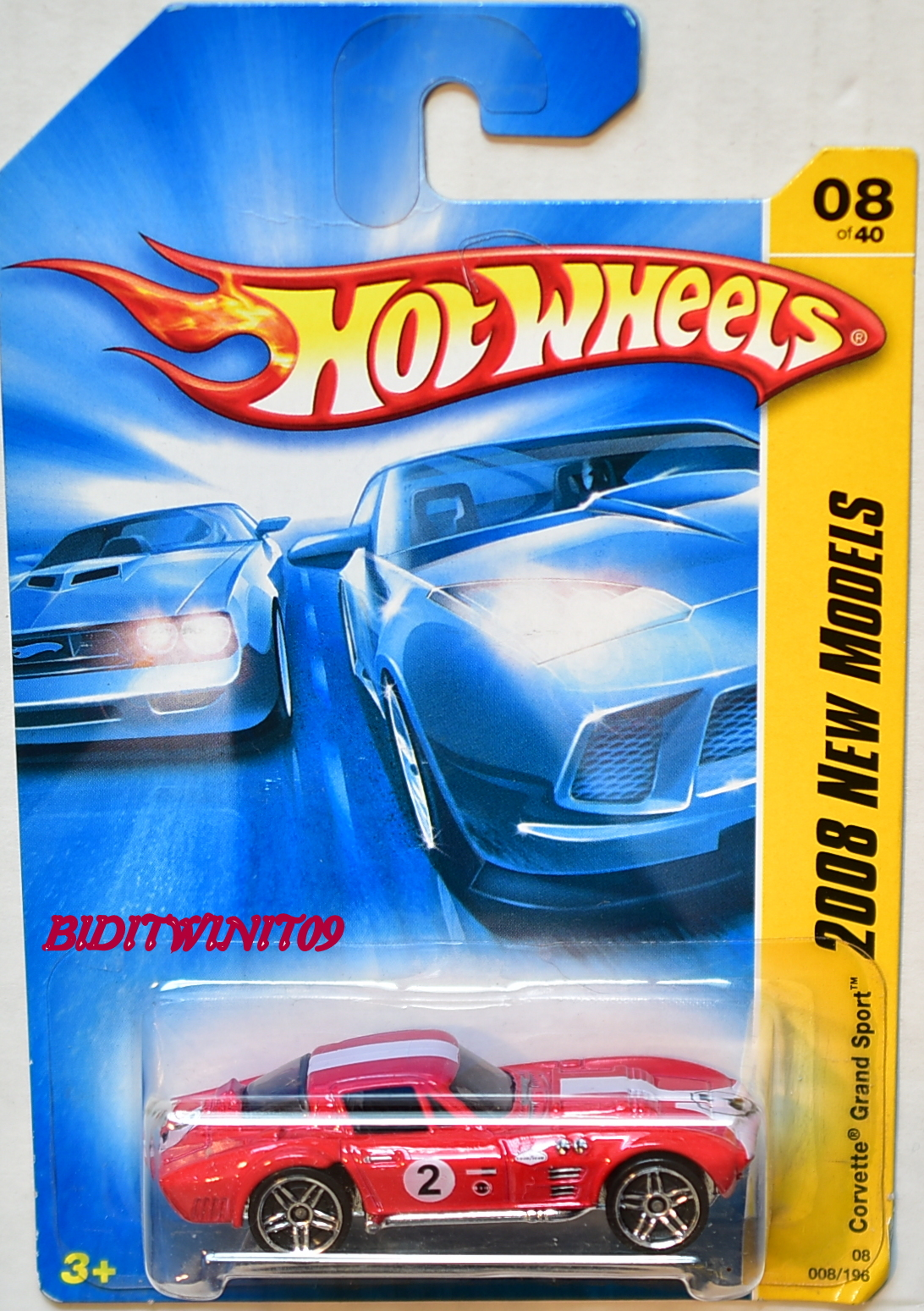HOT WHEELS 2008 NEW MODELS CORVETTE GRAND SPORT #08/40 RED